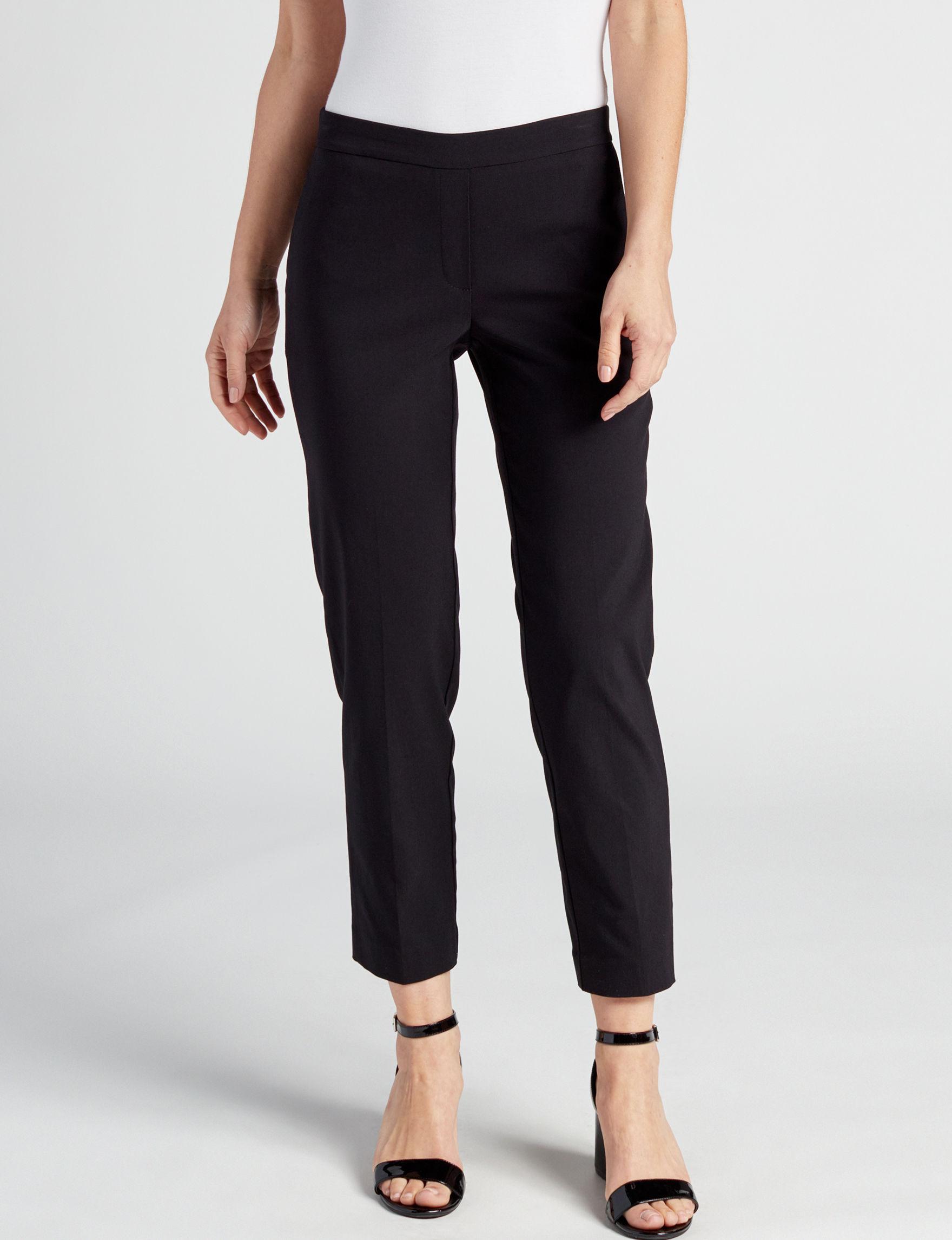 Valerie Stevens Black Soft Pants Straight Stretch