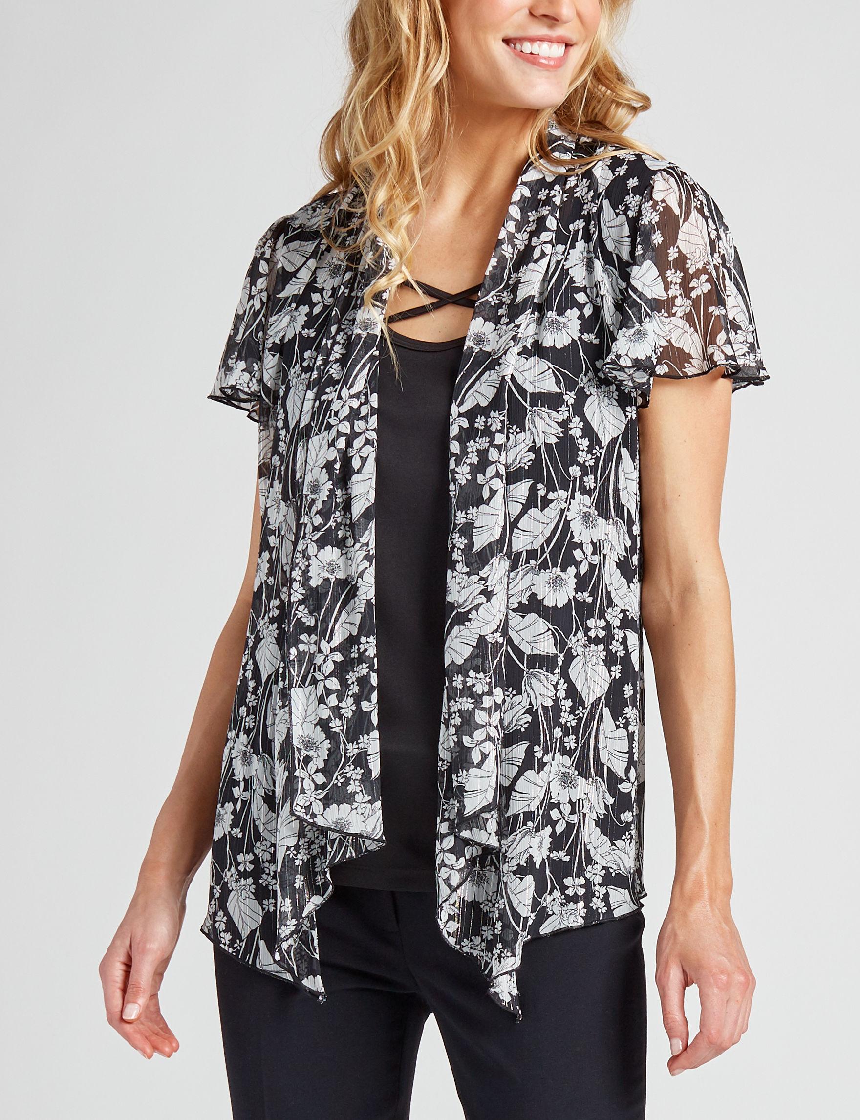 Sara Michelle Black / White Shirts & Blouses