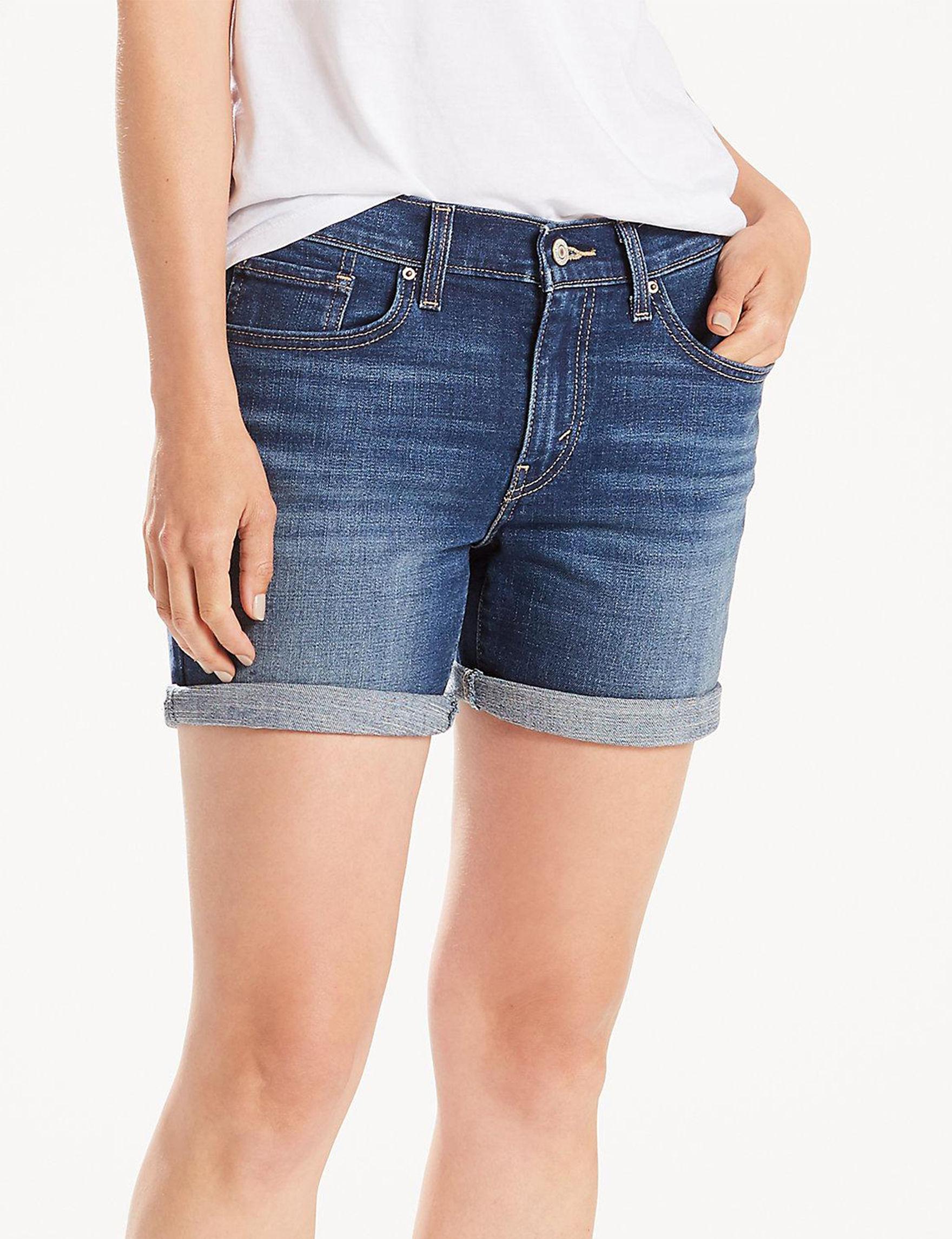 Levi's Medium Blue Denim Shorts