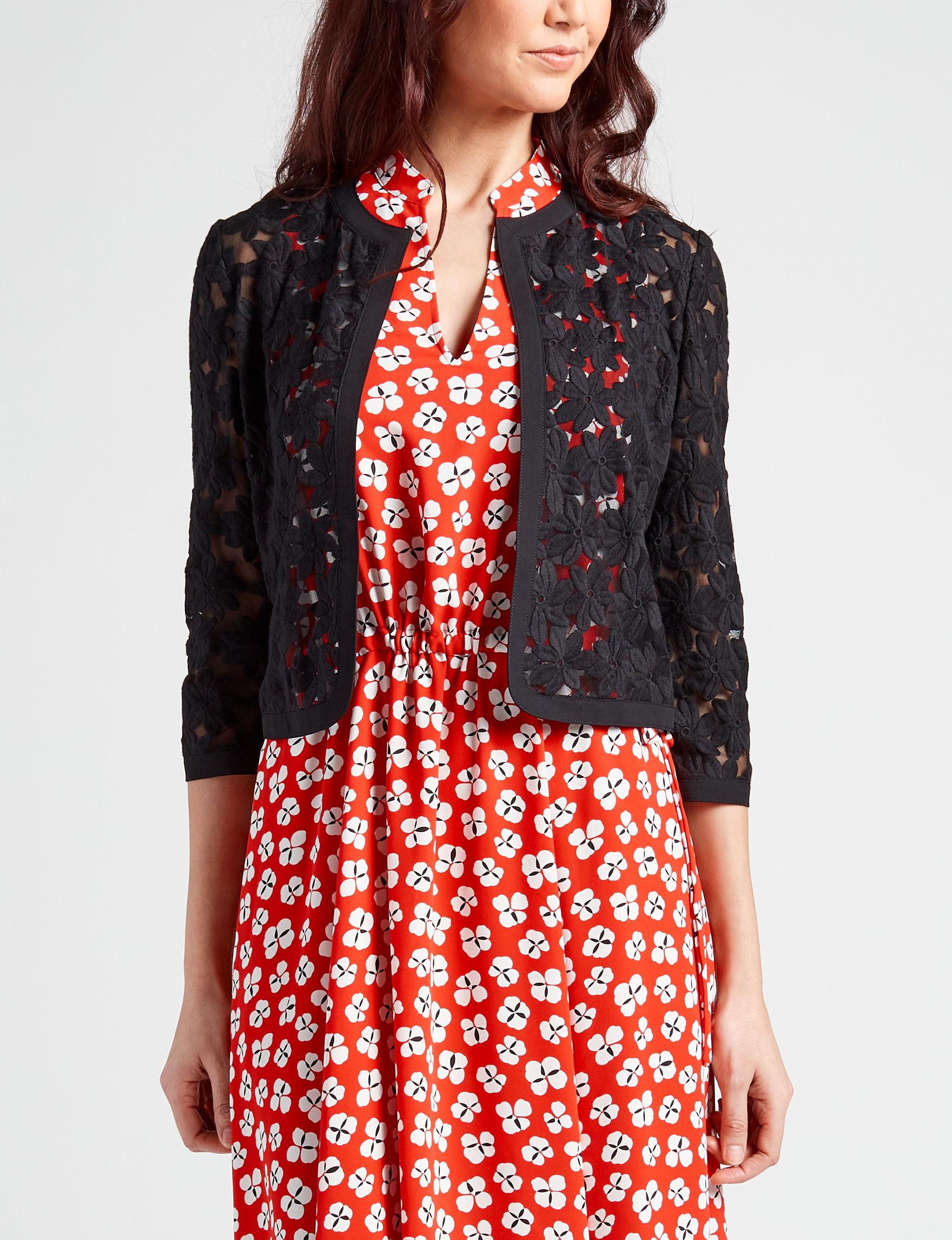 Anne Klein Black Lightweight Jackets & Blazers