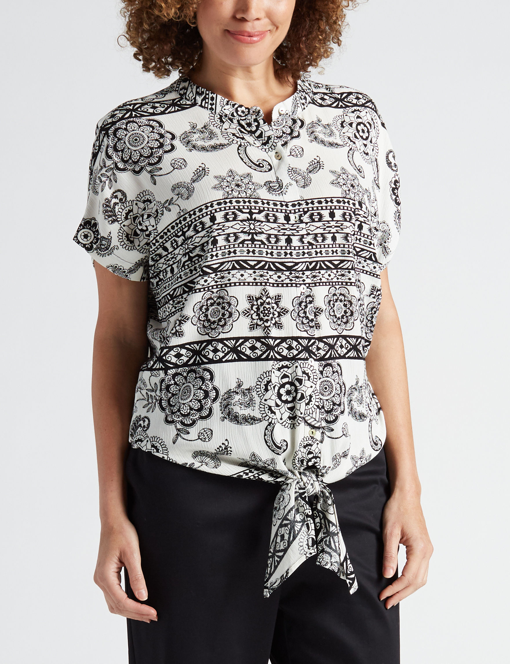 John Paul Richard Black Shirts & Blouses