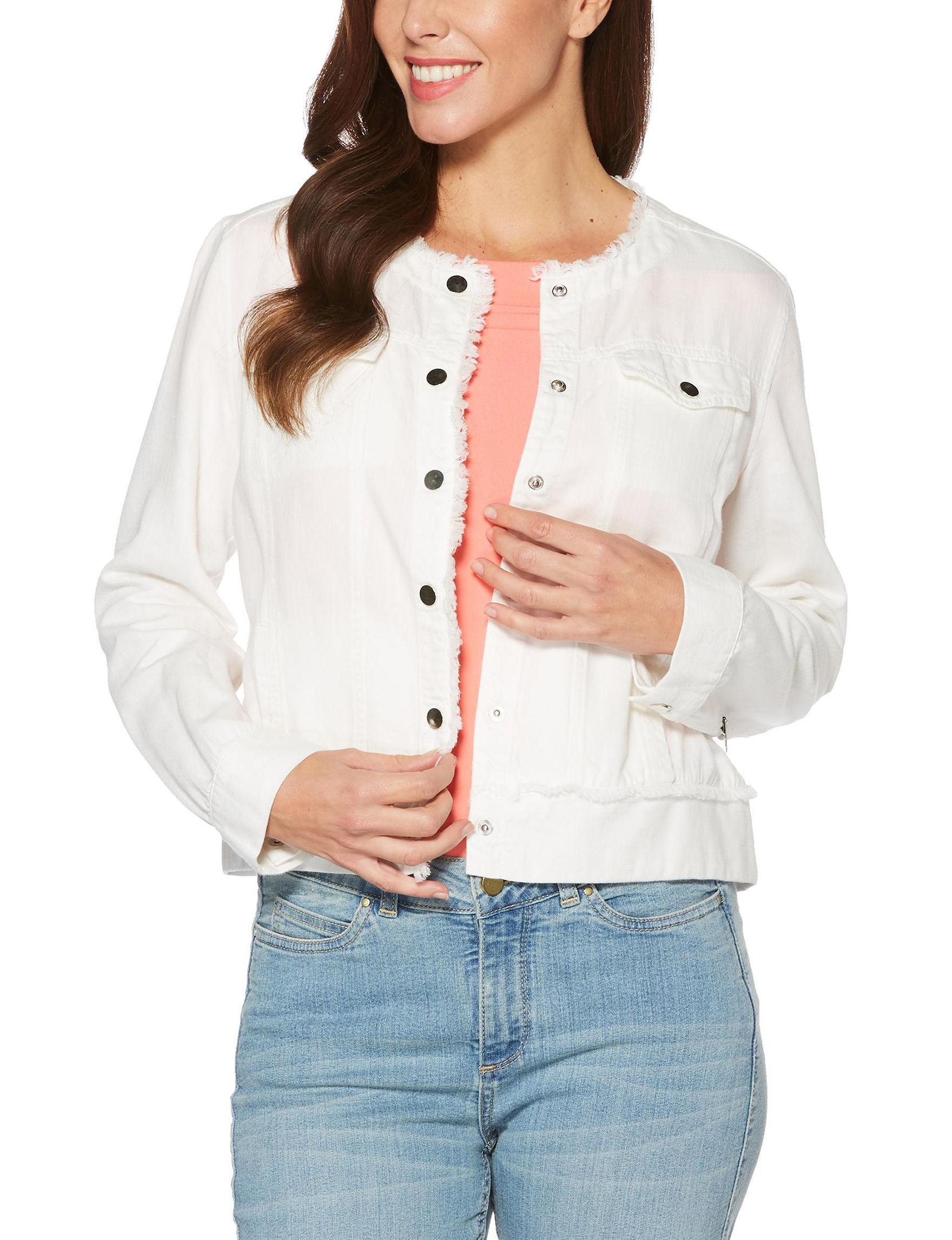 Rafaella White Lightweight Jackets & Blazers