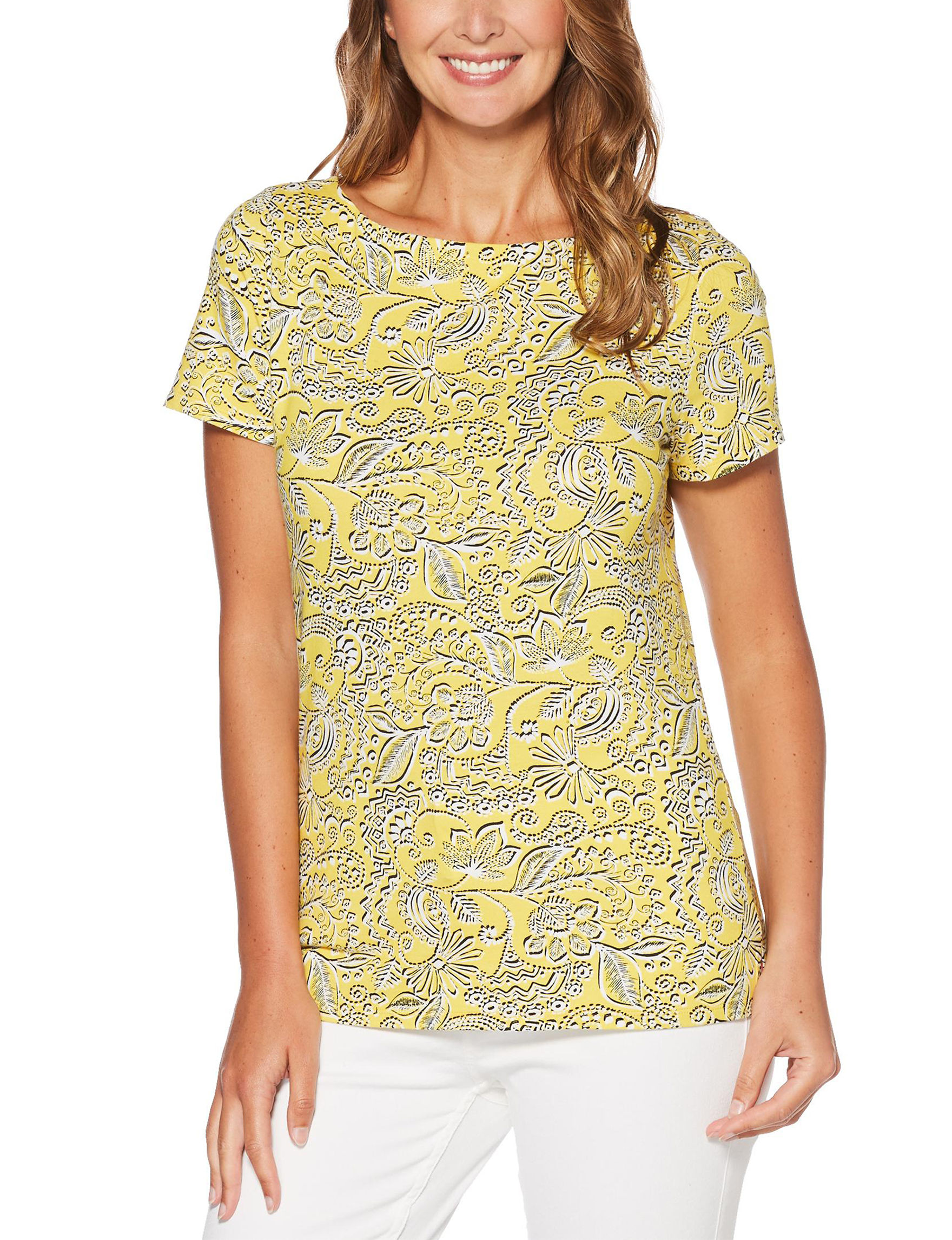 Rafaella Yellow Shirts & Blouses