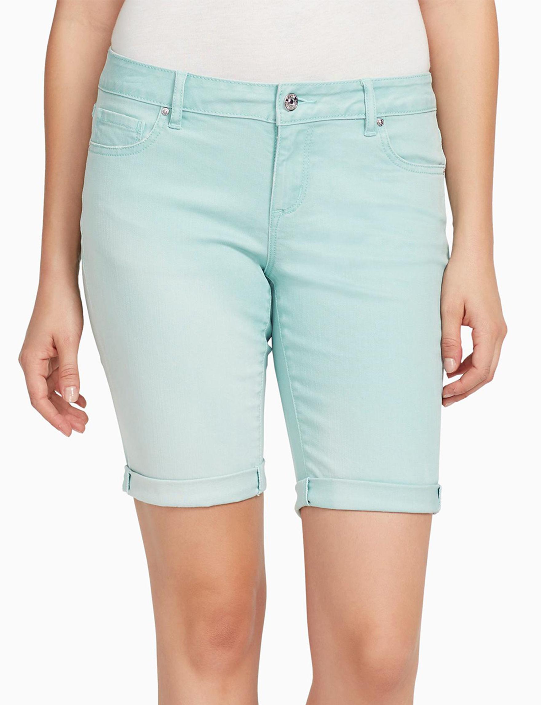Vintage America Blues Turquoise Bermudas Denim Shorts