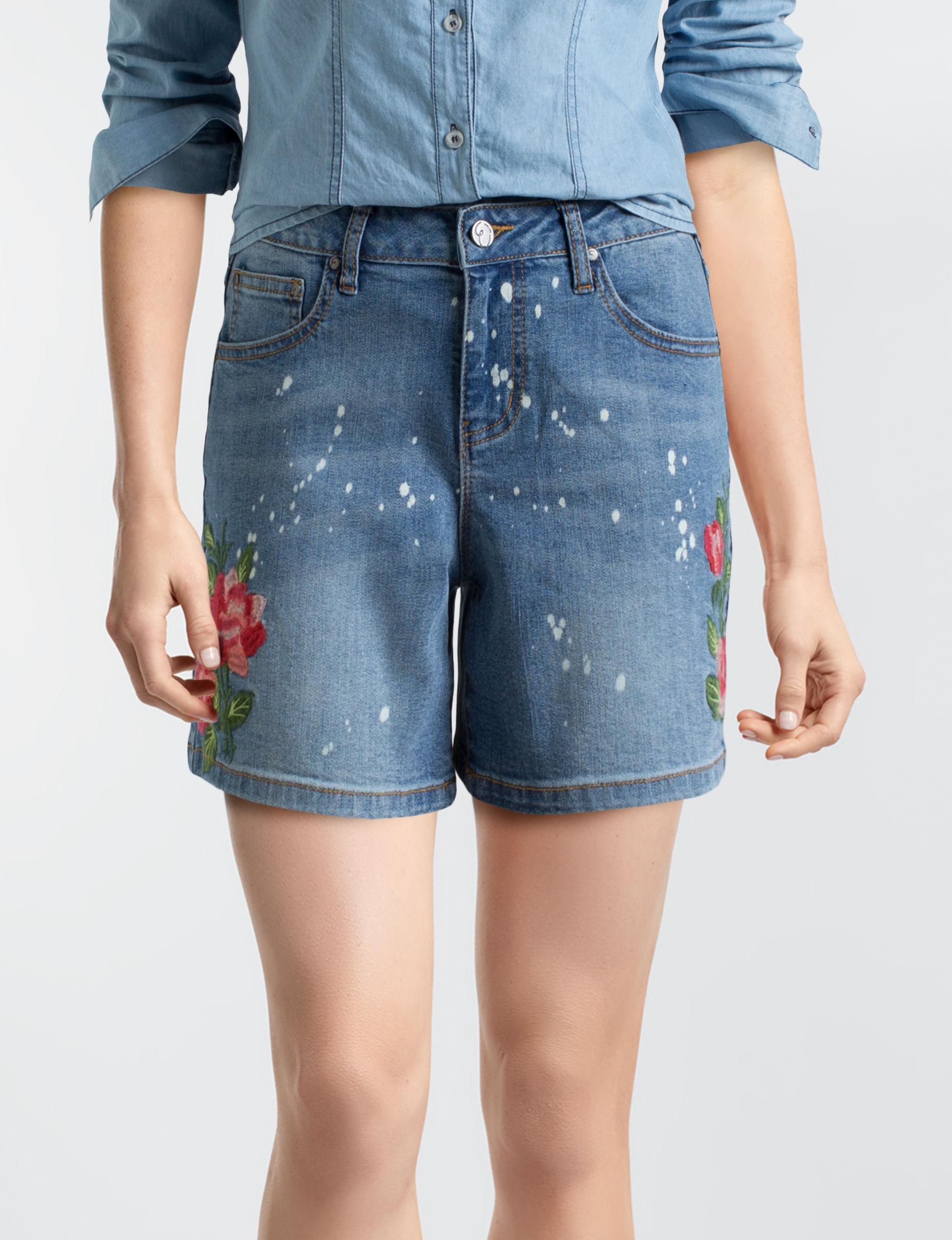 Earl Jean Blue Denim Shorts