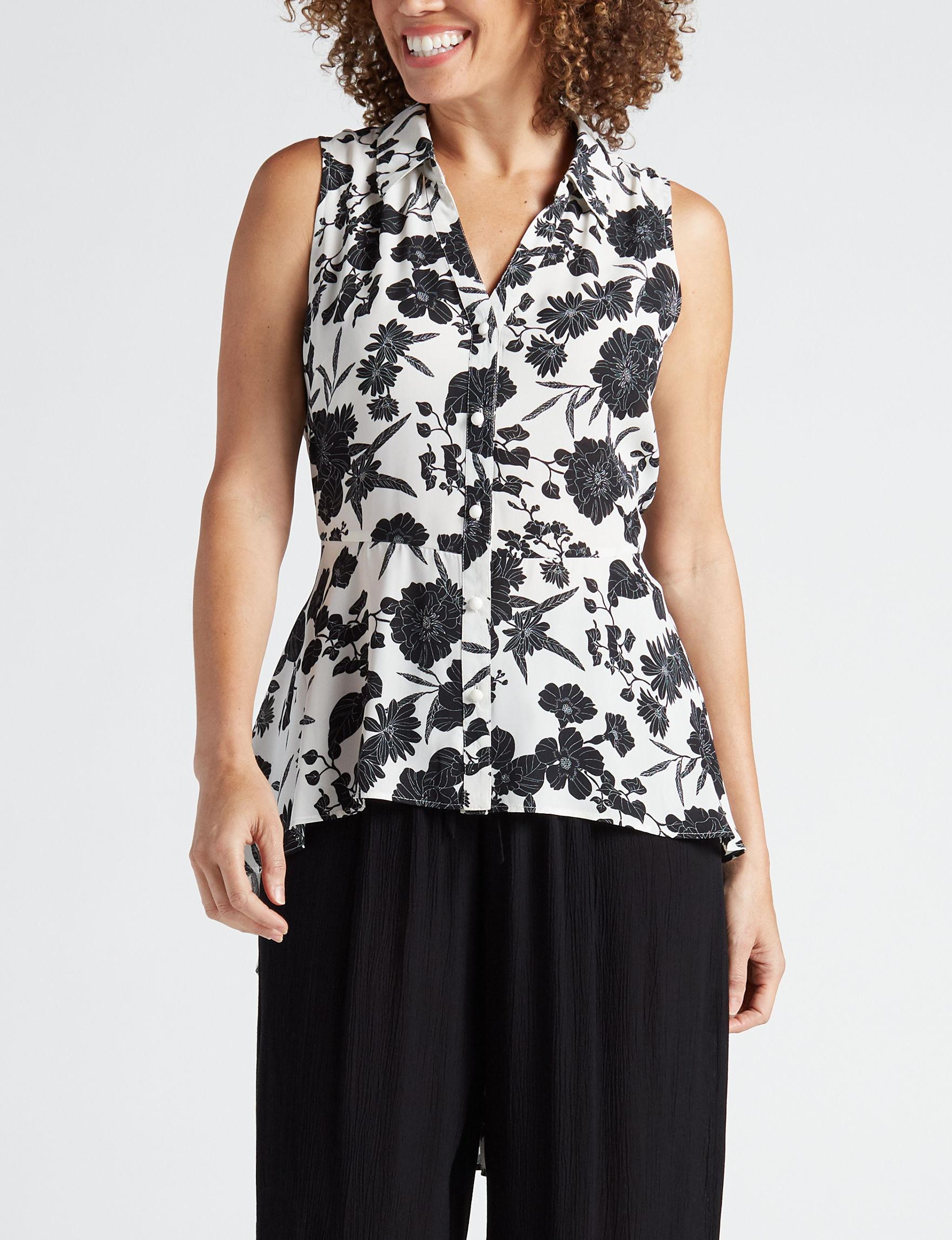 Valerie Stevens White / Black Shirts & Blouses