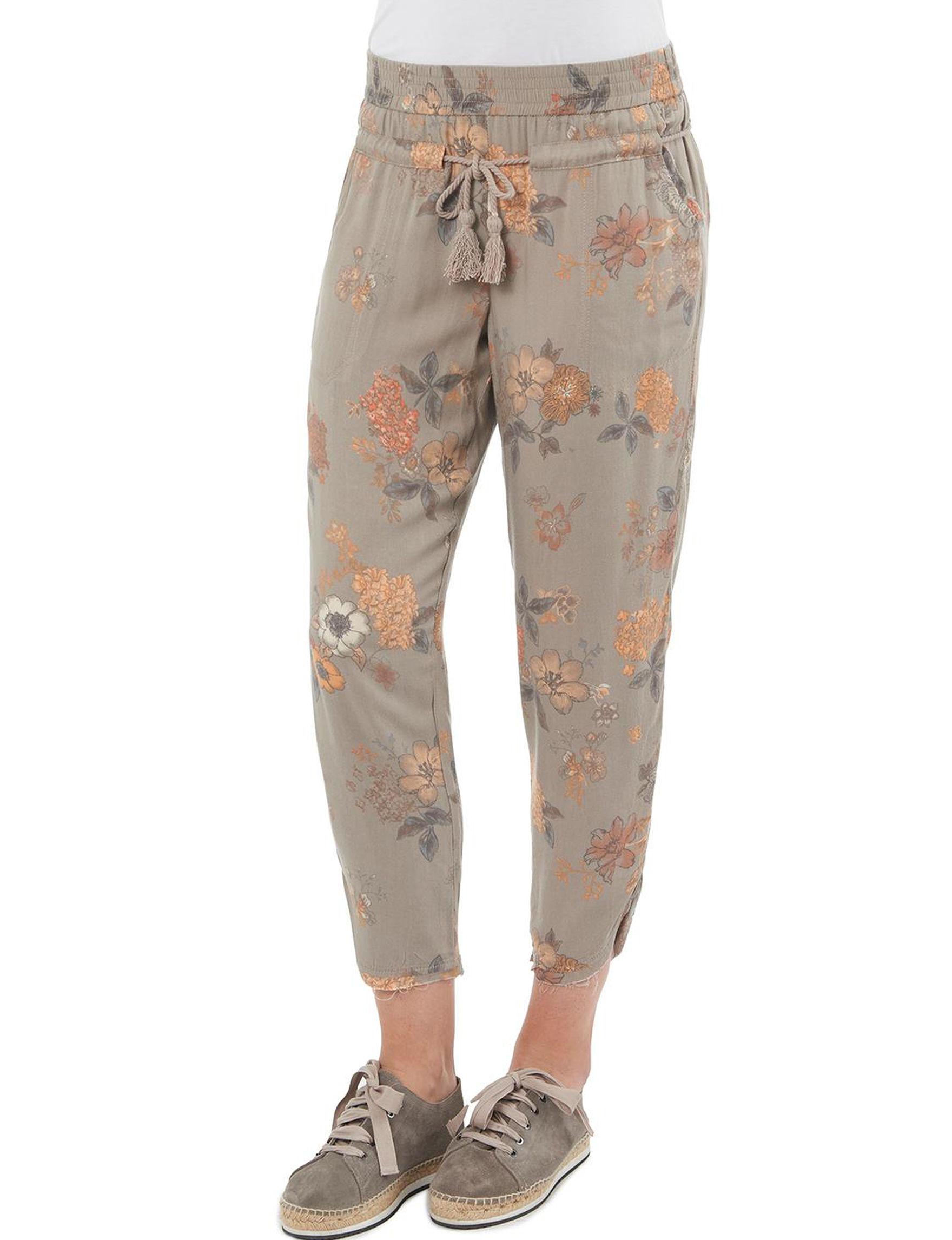 Democracy Beige Floral Soft Pants