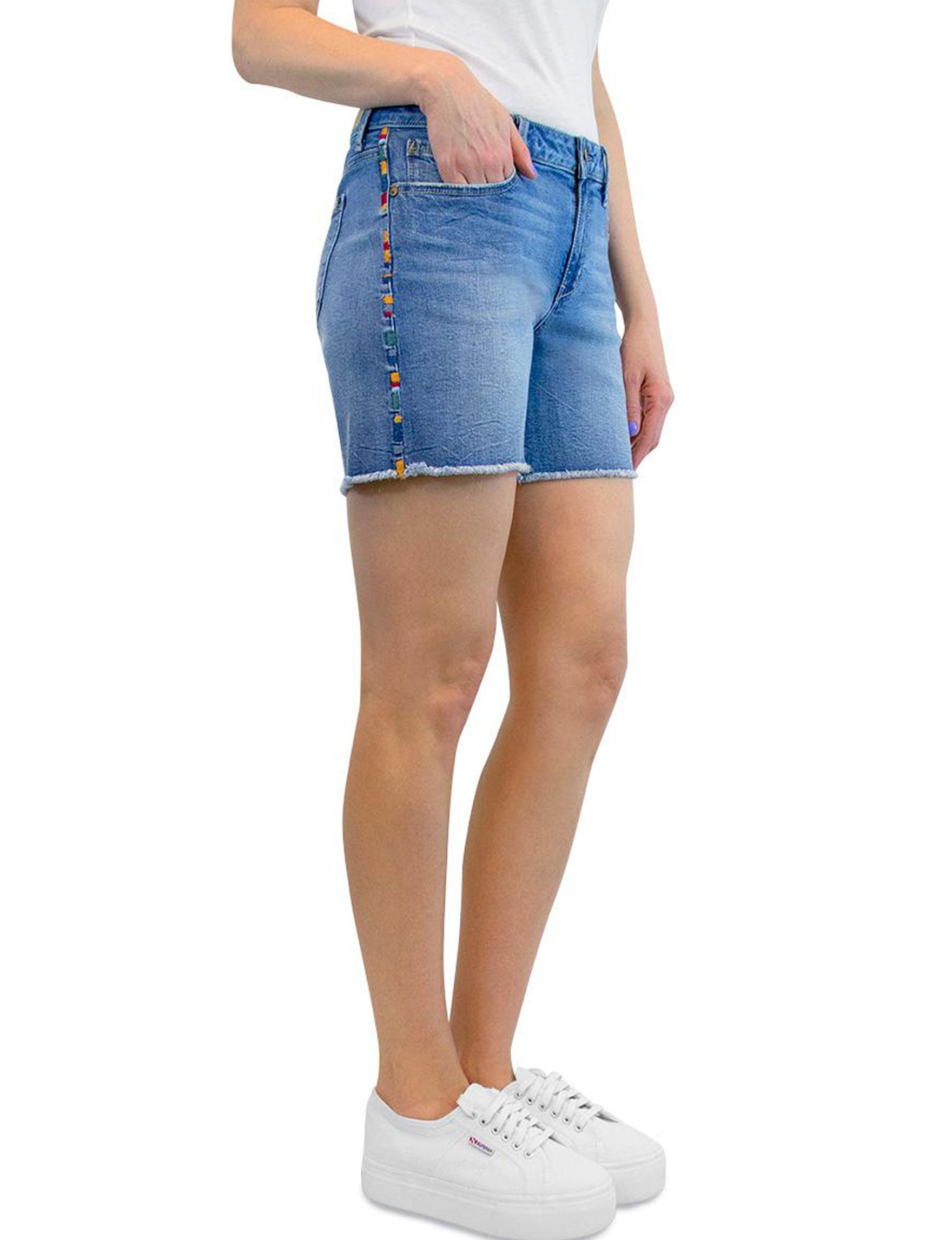 Seven 7 Blue Denim Shorts