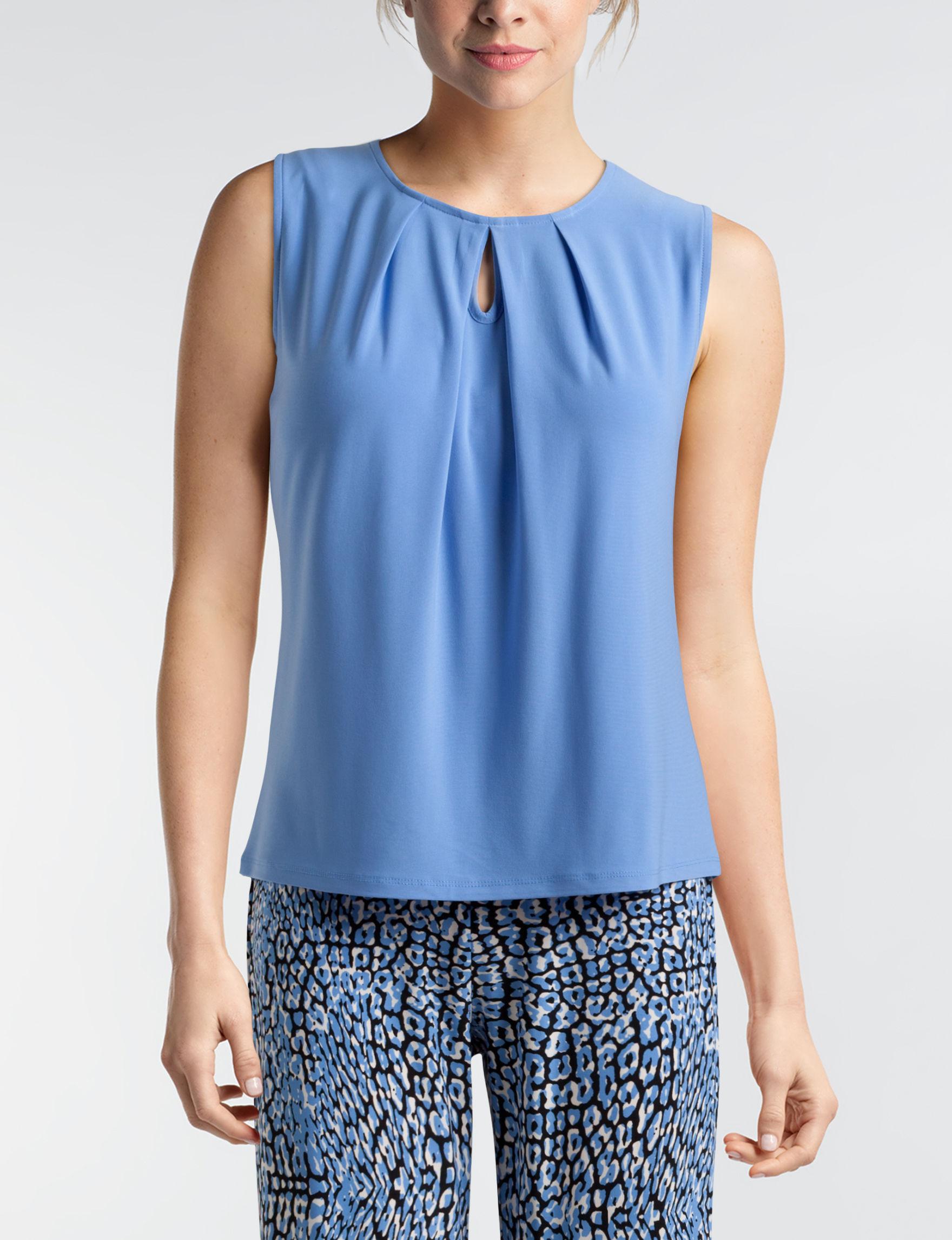 Kasper Blue Shirts & Blouses