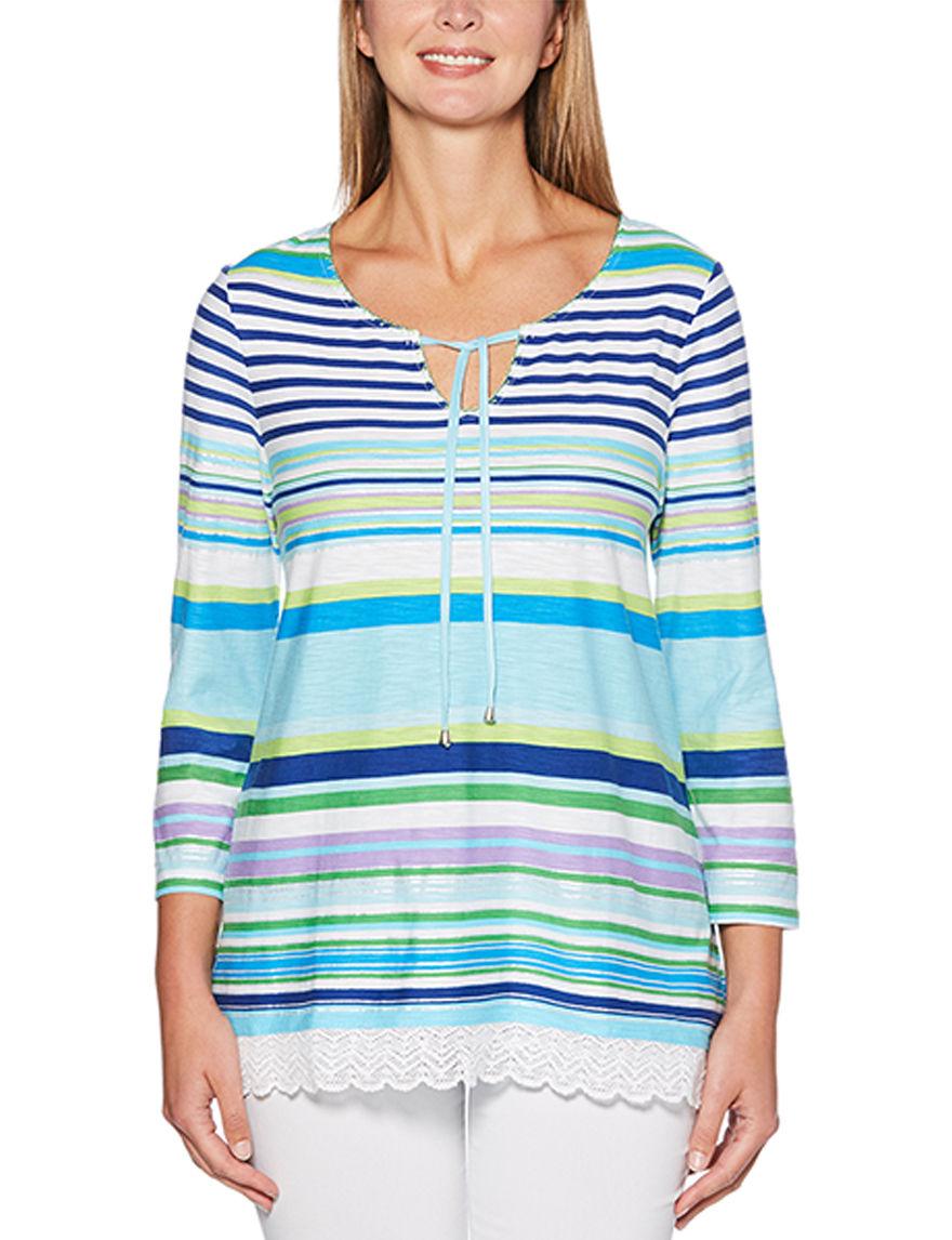 Rafaella Blue Stripe Shirts & Blouses
