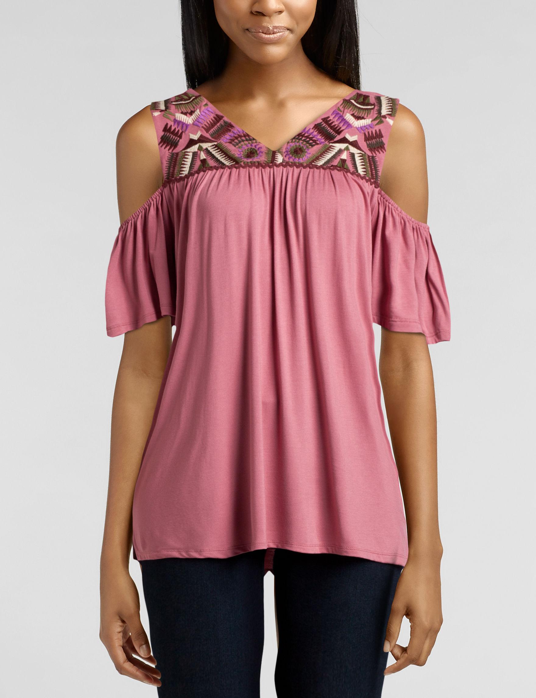 Hannah Mauve Shirts & Blouses