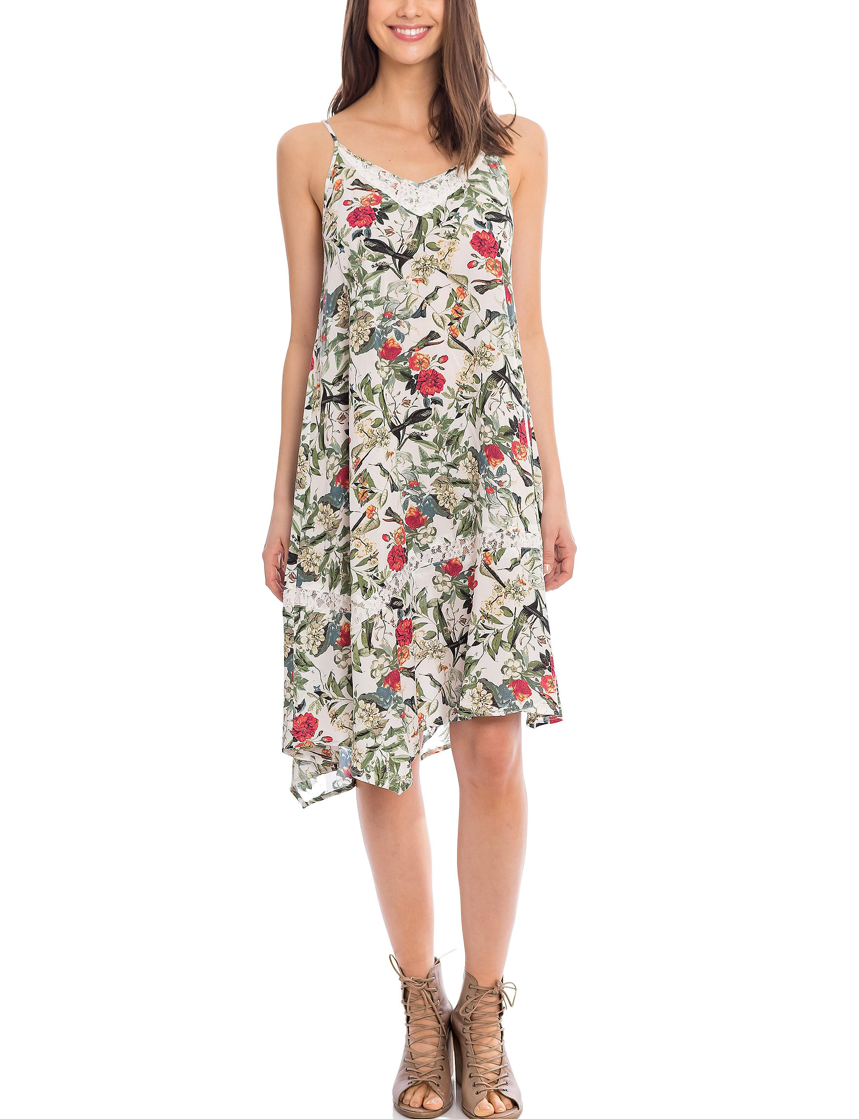 Skyes The Limit White Multi Everyday & Casual Shift Dresses