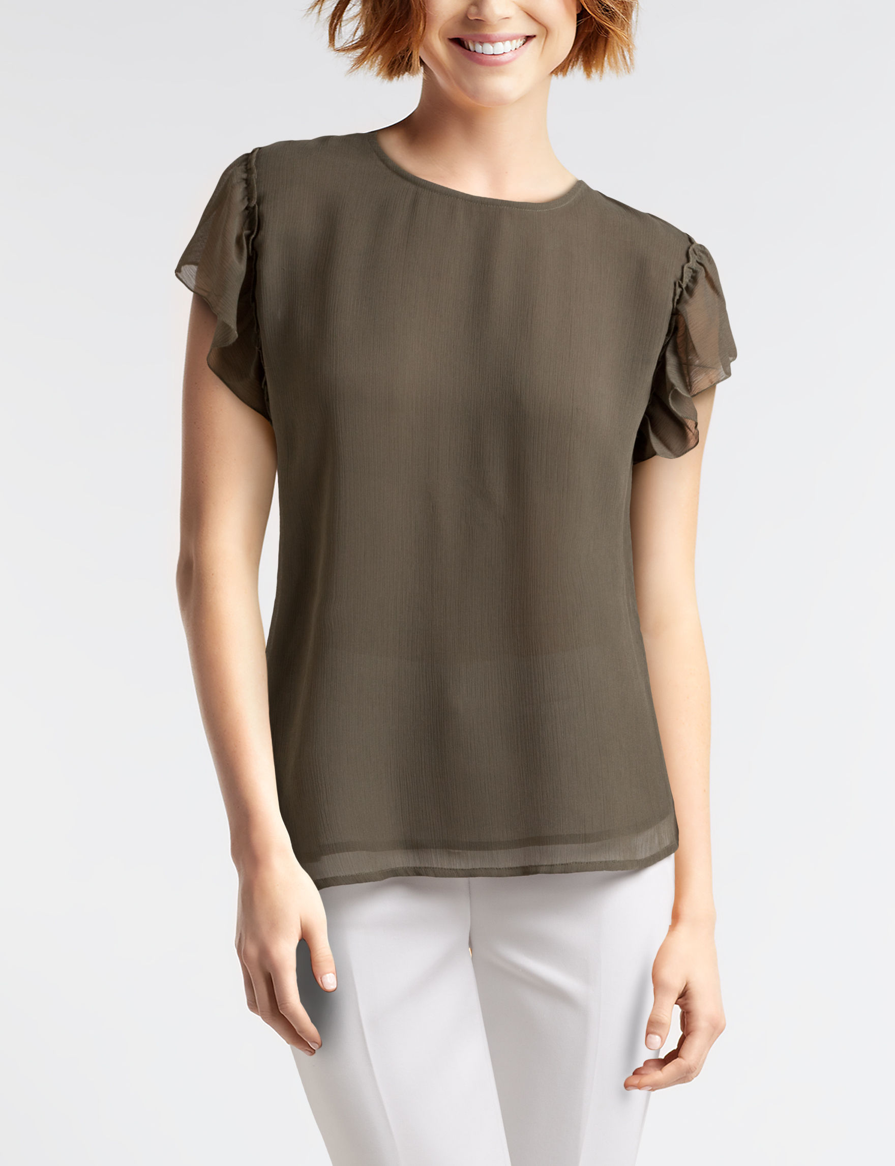 New Direction Olive Shirts & Blouses