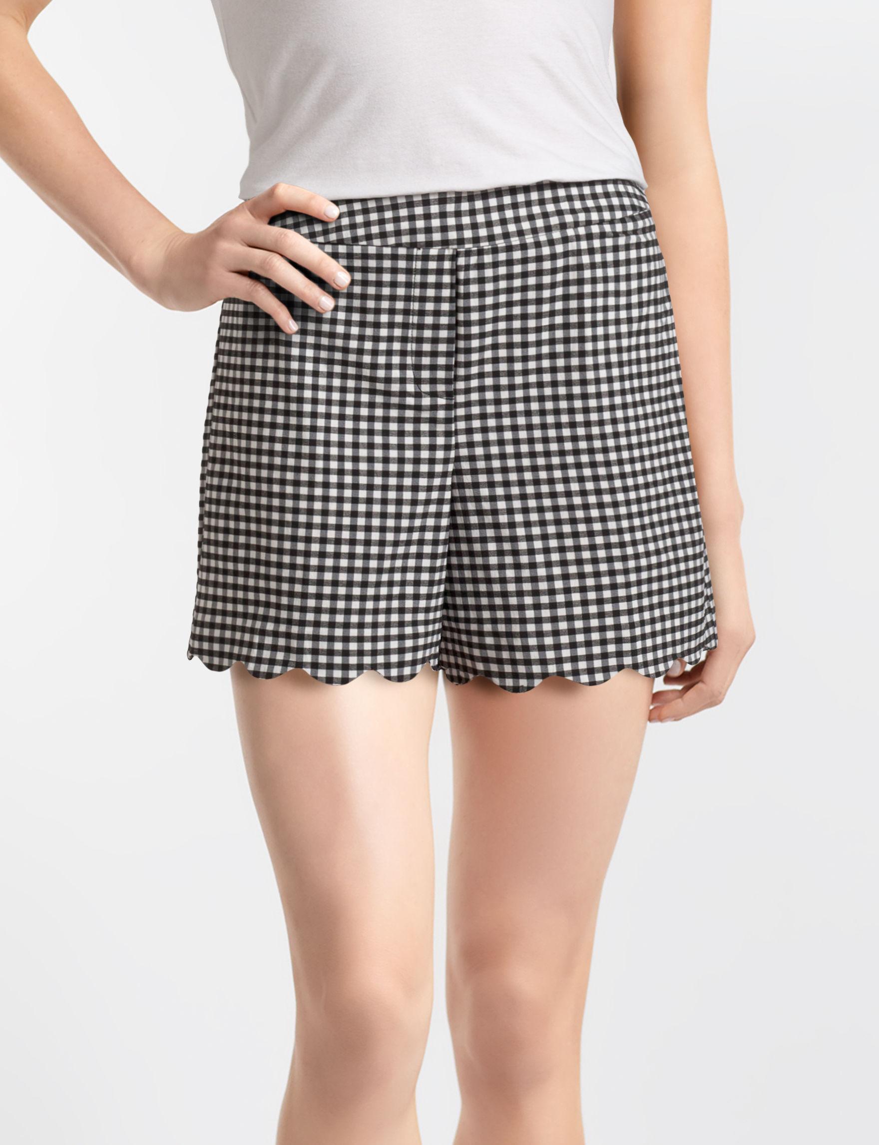 Zac & Rachel Black / White Tailored Shorts