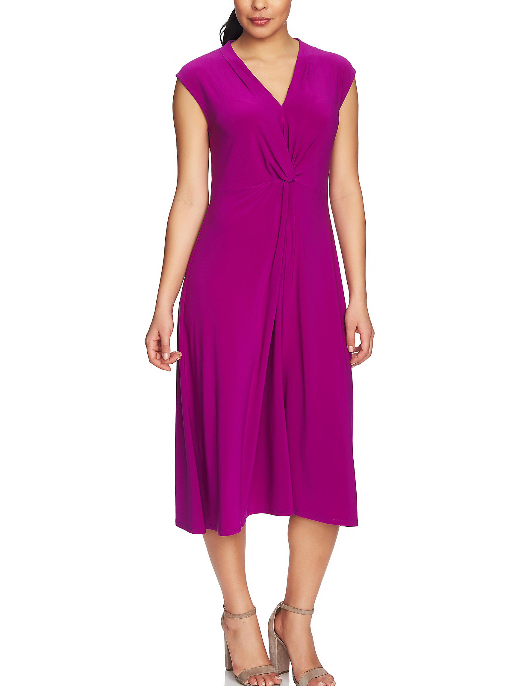Chaus Fuchsia Everyday & Casual Fit & Flare Dresses Shift Dresses