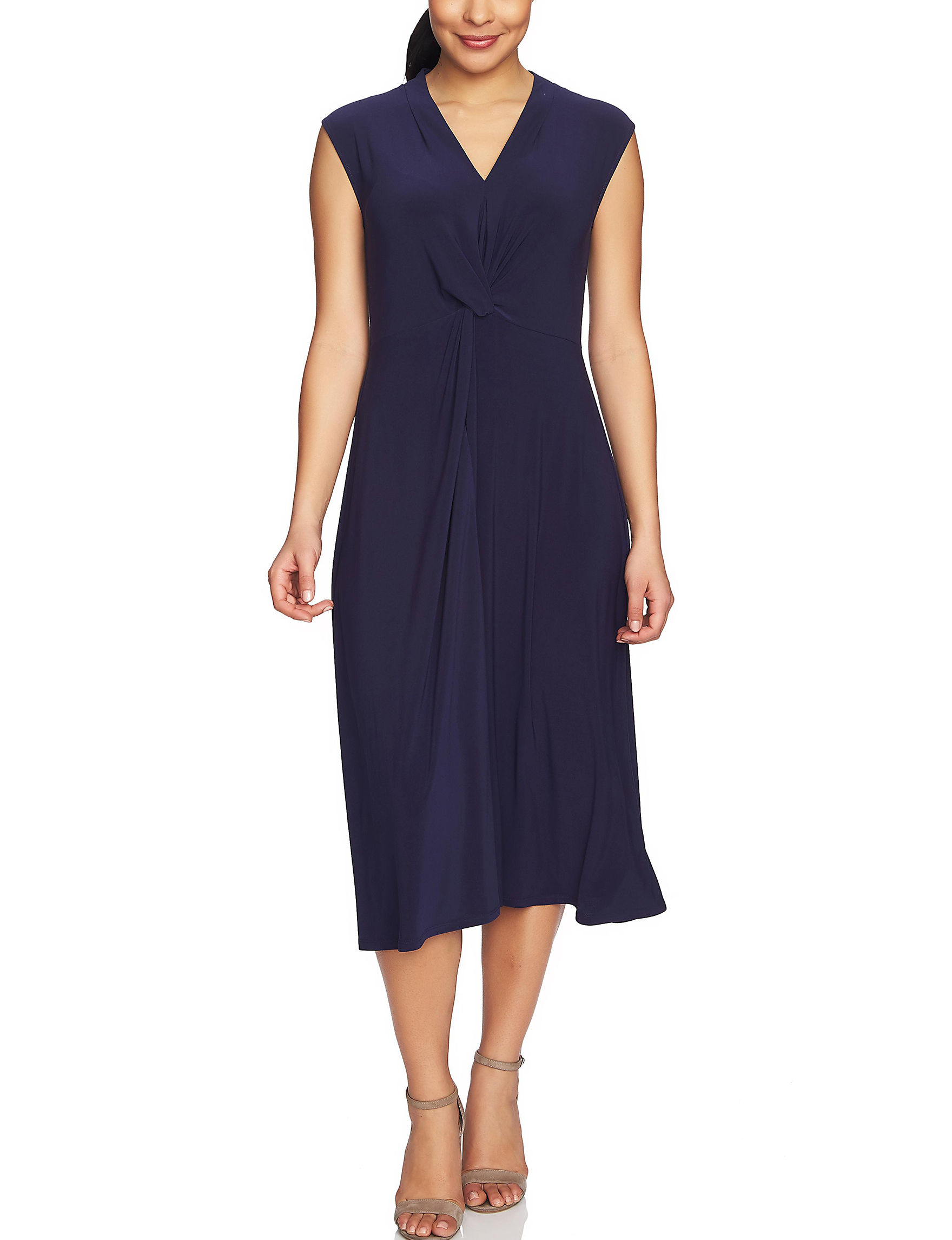 Chaus Navy Everyday & Casual Fit & Flare Dresses