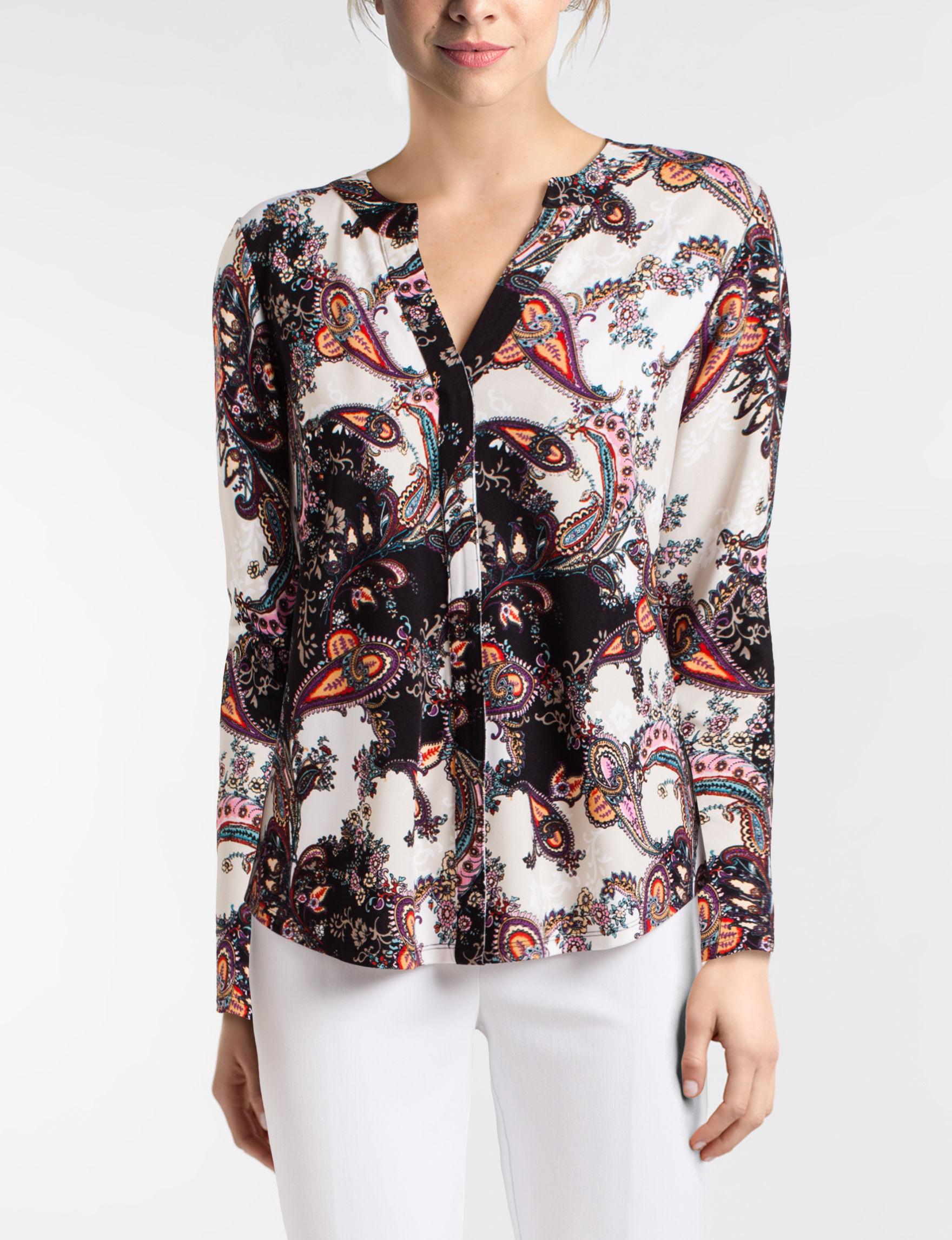 Valerie Stevens Black / Pink Shirts & Blouses