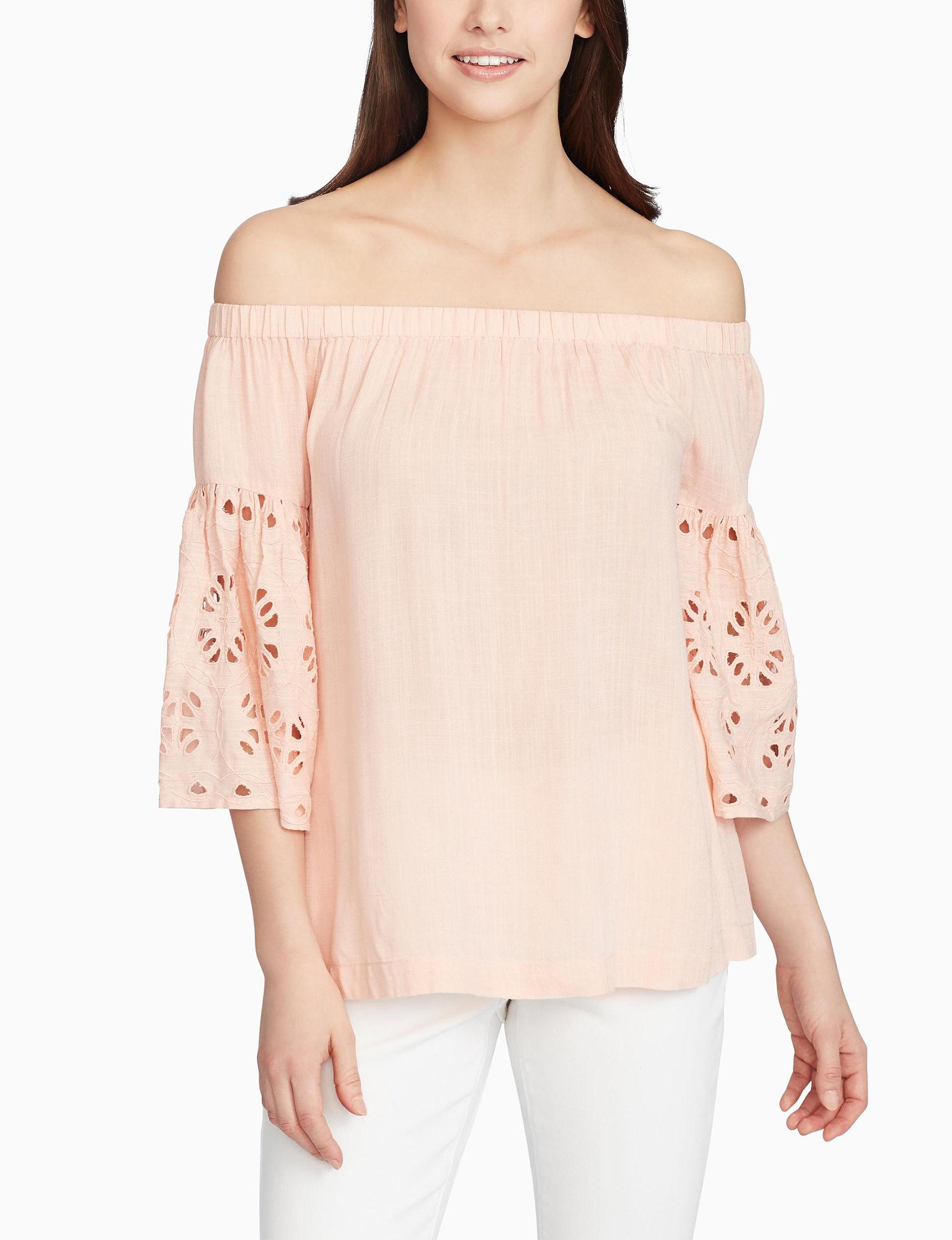 Nine West Peach Shirts & Blouses