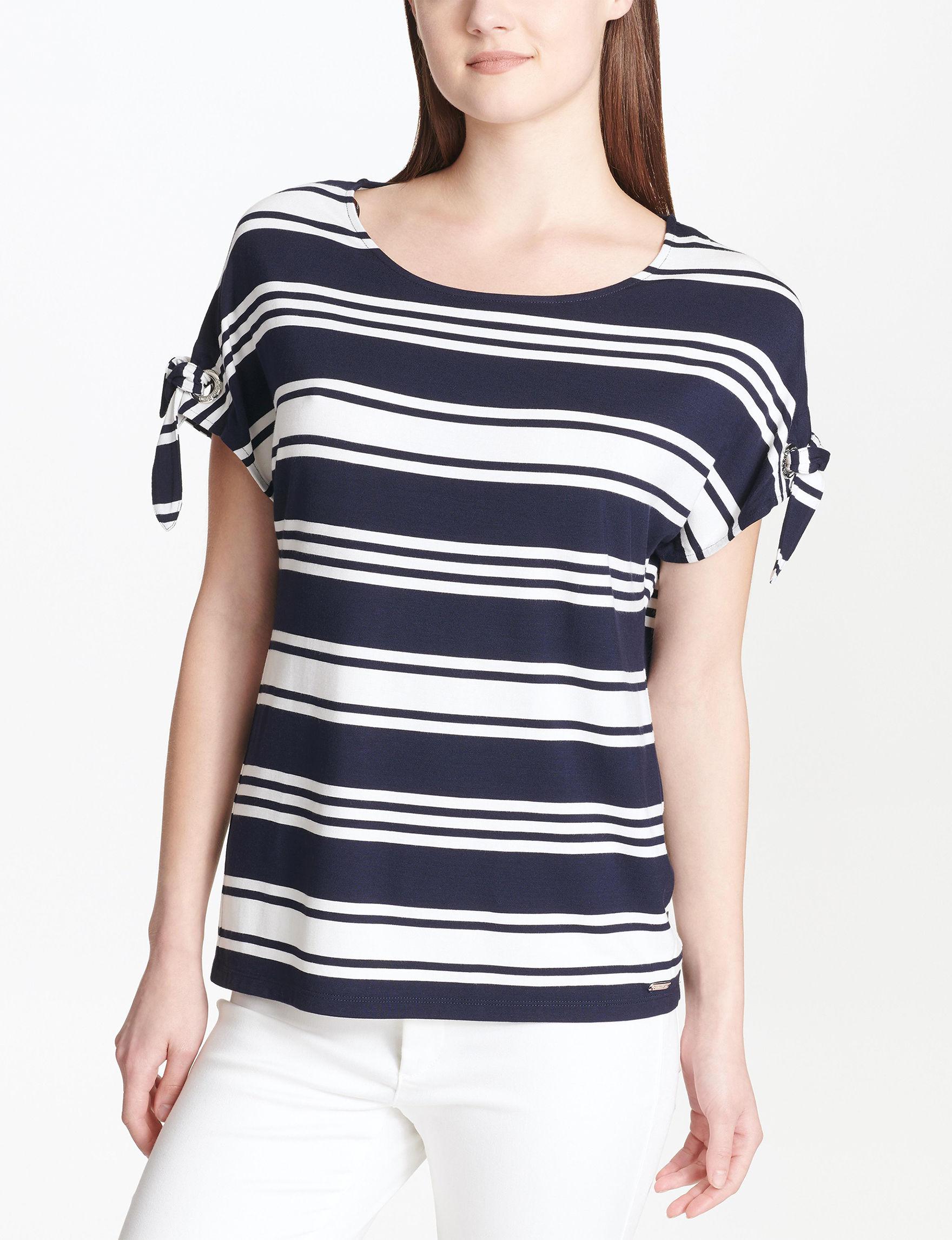 Calvin Klein White / Navy Shirts & Blouses