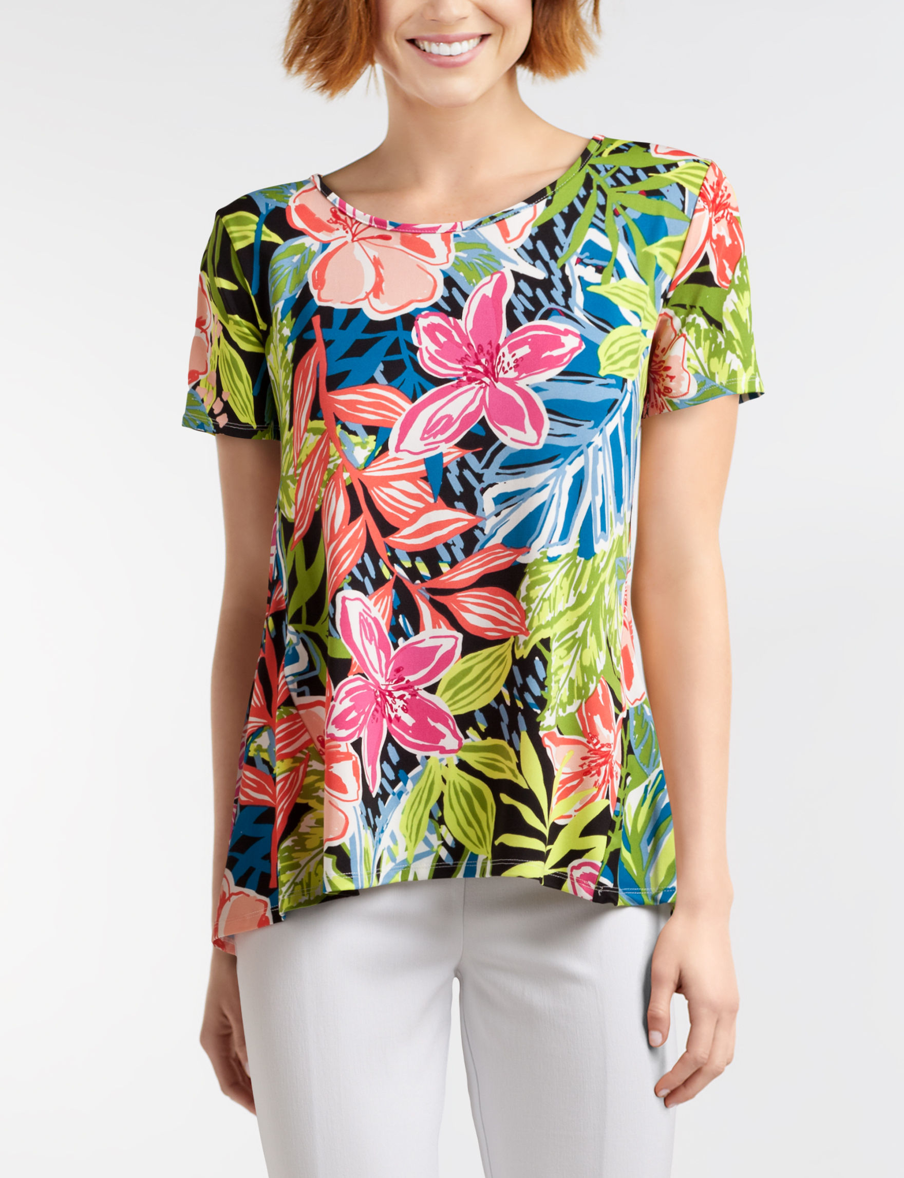Sunny Leigh Green Floral Shirts & Blouses