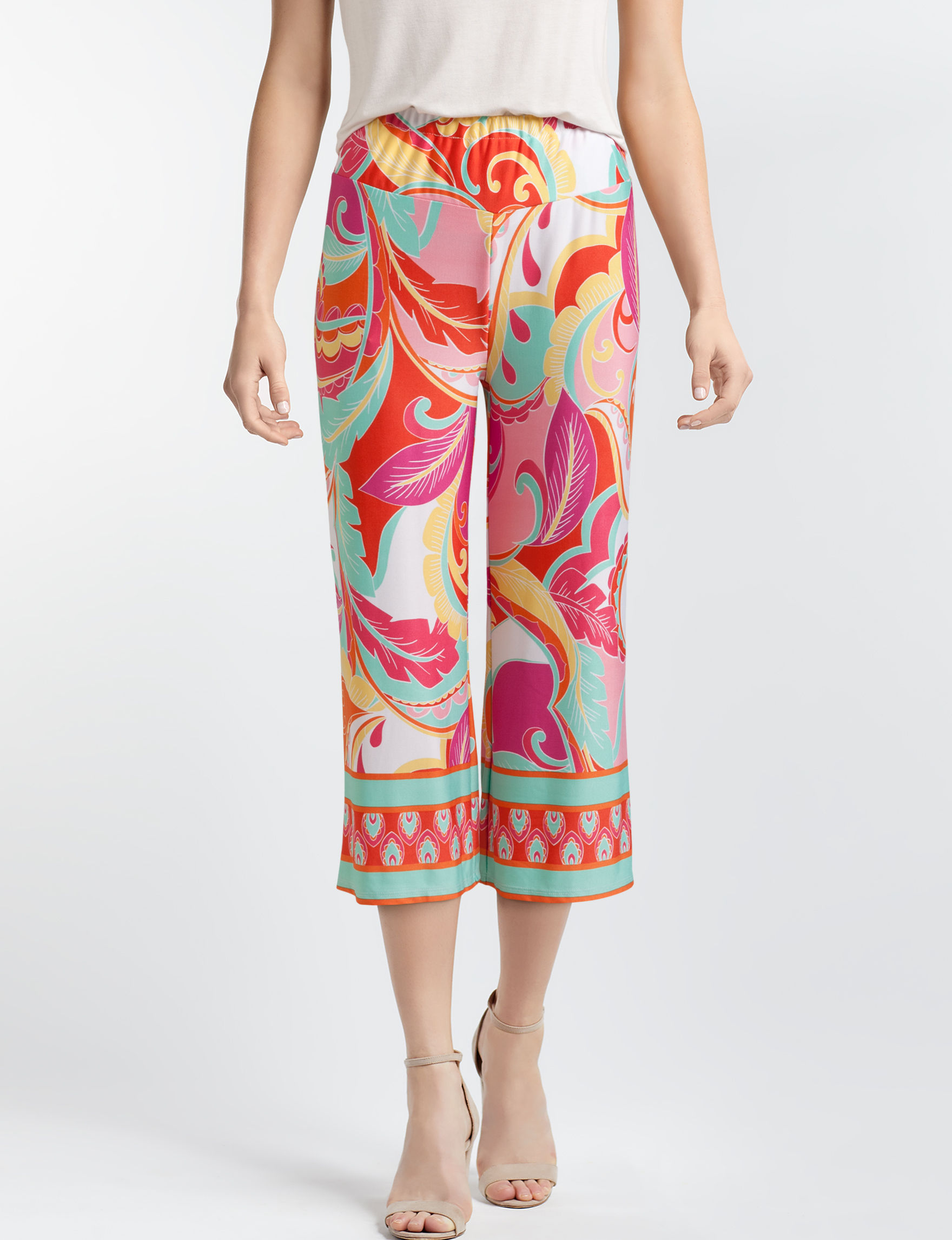 Sunny Leigh Pink Multi Capris & Crops