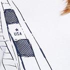 White / Navy