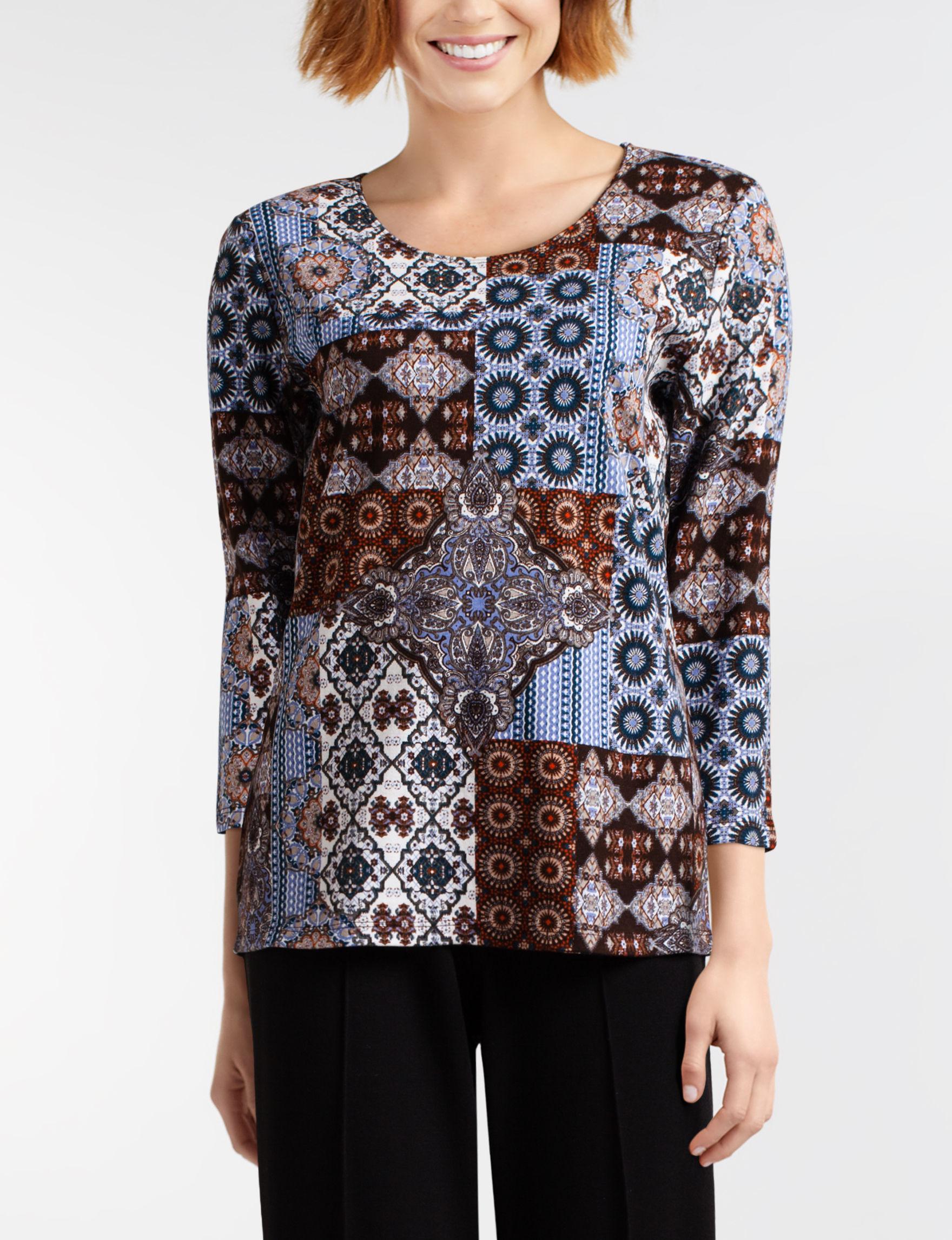Rebecca Malone Dark Brown Shirts & Blouses