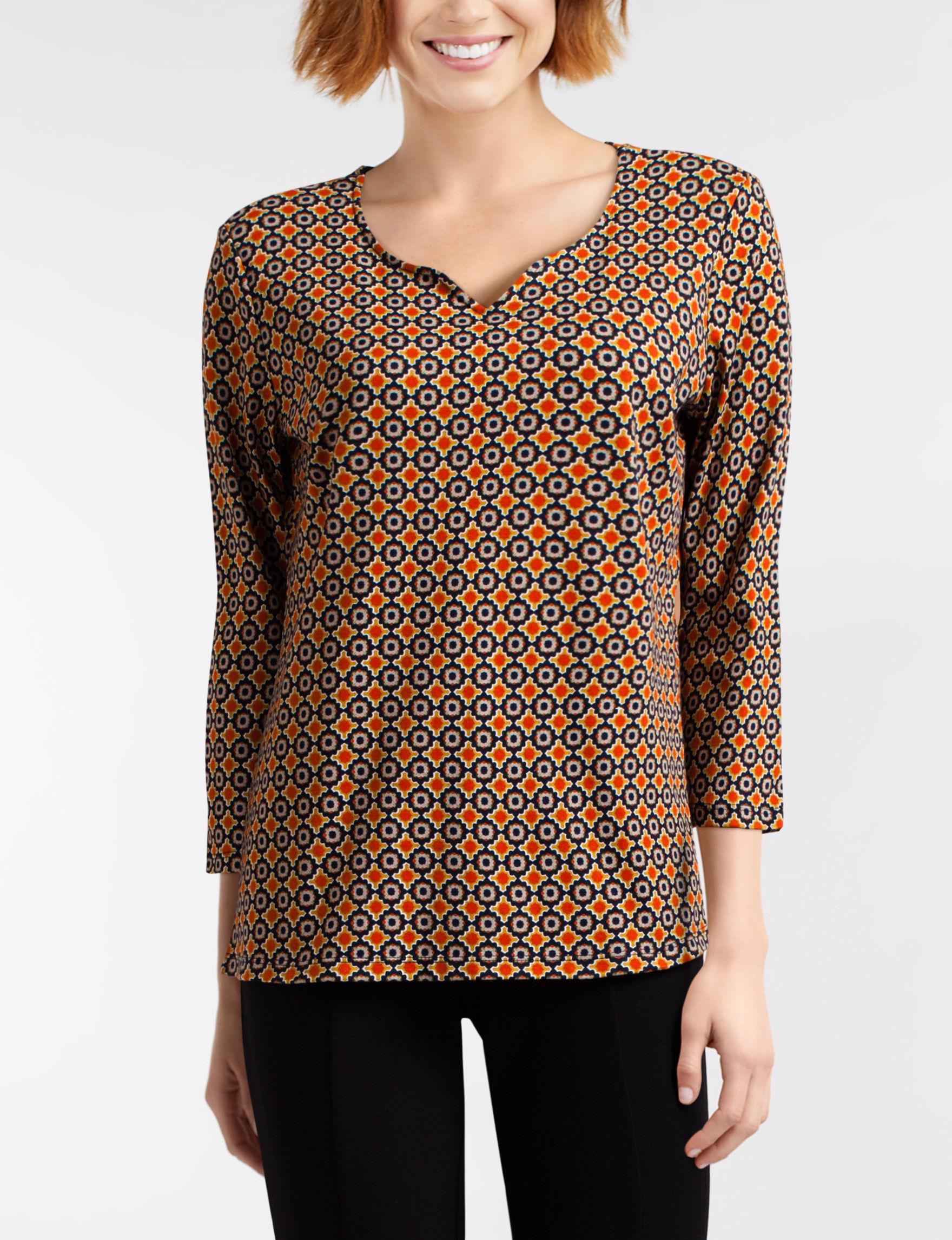 Rebecca Malone Yellow Multi Shirts & Blouses