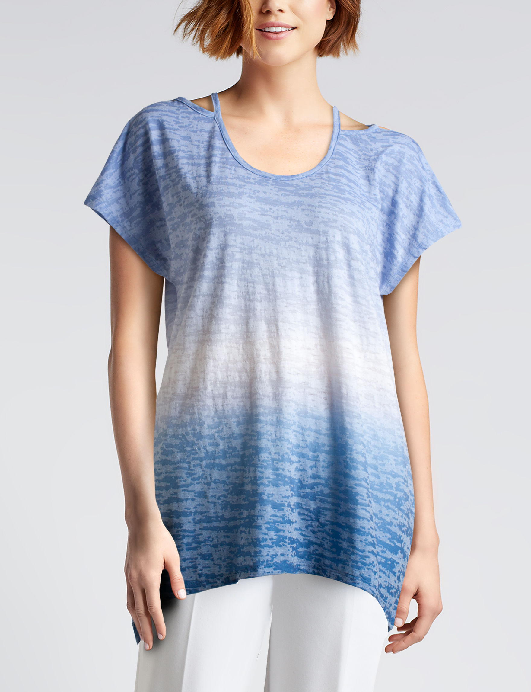 Hannah Blue Tees & Tanks
