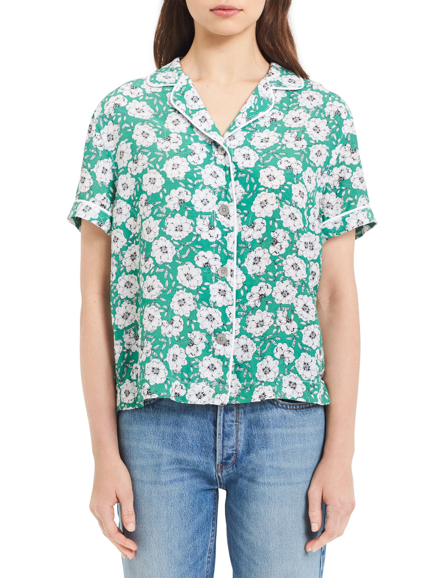 Calvin Klein Jeans Green Shirts & Blouses