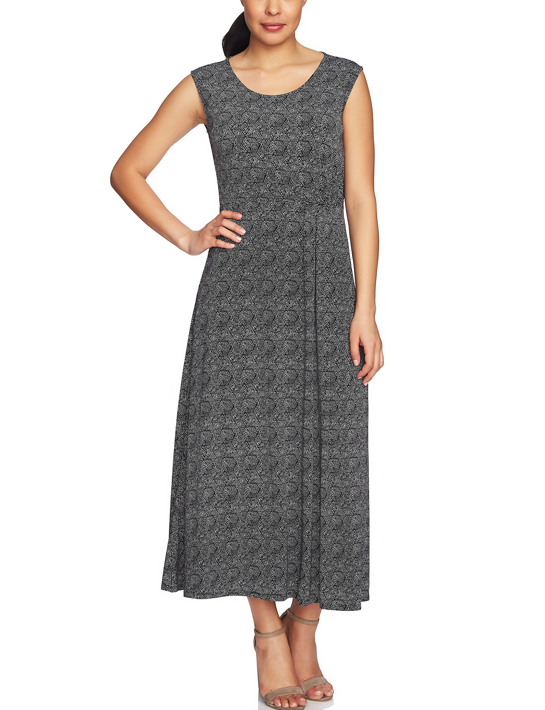 Chaus Black Everyday & Casual Fit & Flare Dresses Sundresses