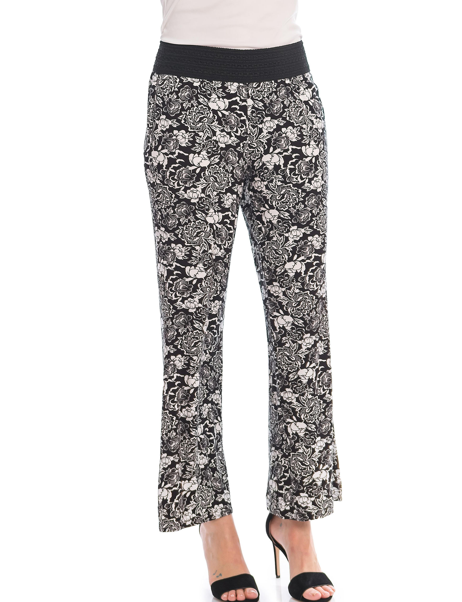 Skyes The Limit Black / White Relaxed Soft Pants