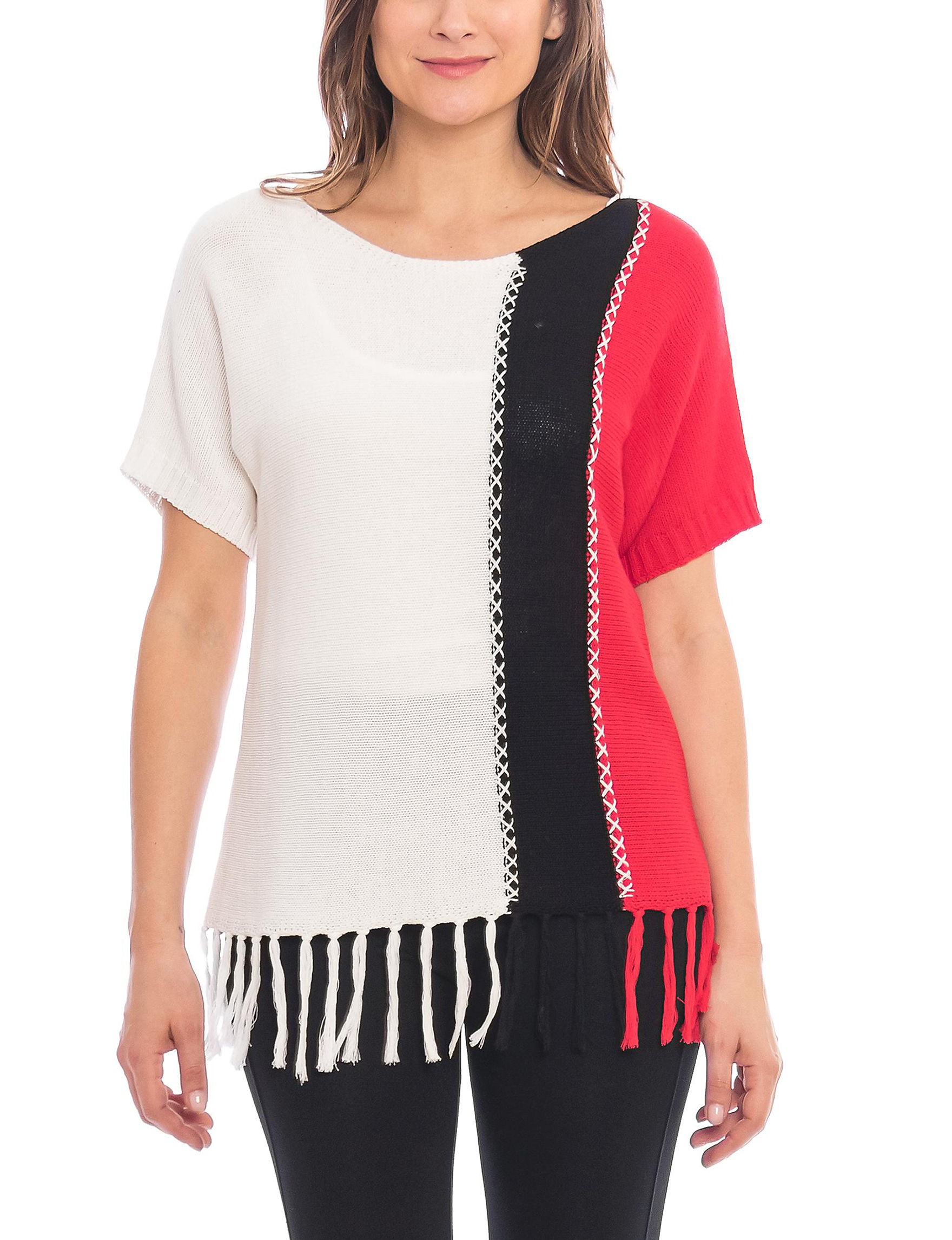 Skyes The Limit White Pull-overs Shirts & Blouses