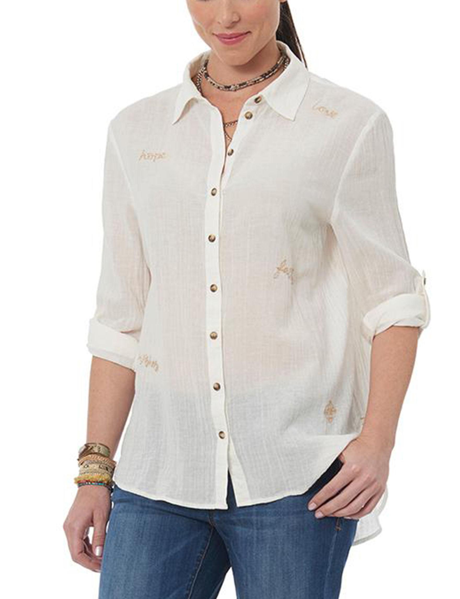 Democracy Off White Shirts & Blouses