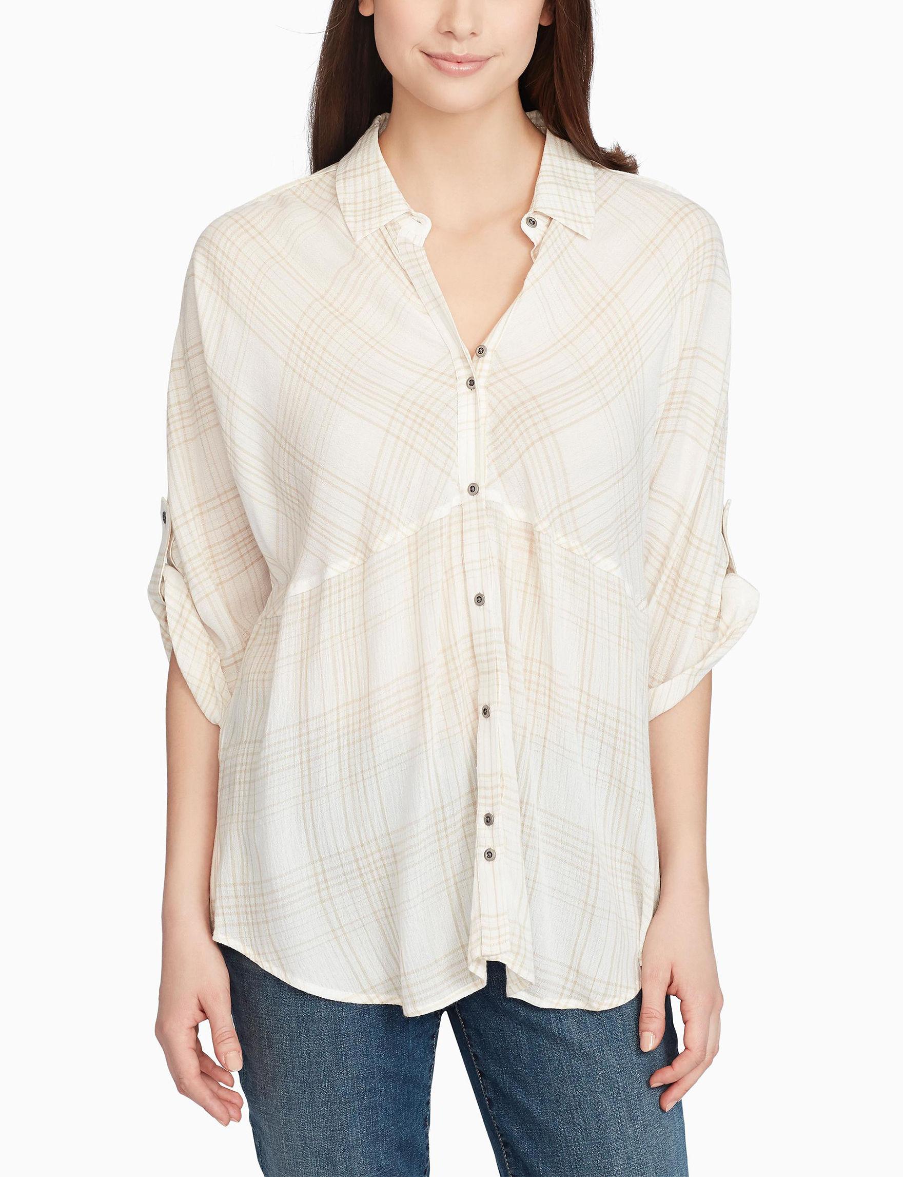 Nine West Beige Shirts & Blouses
