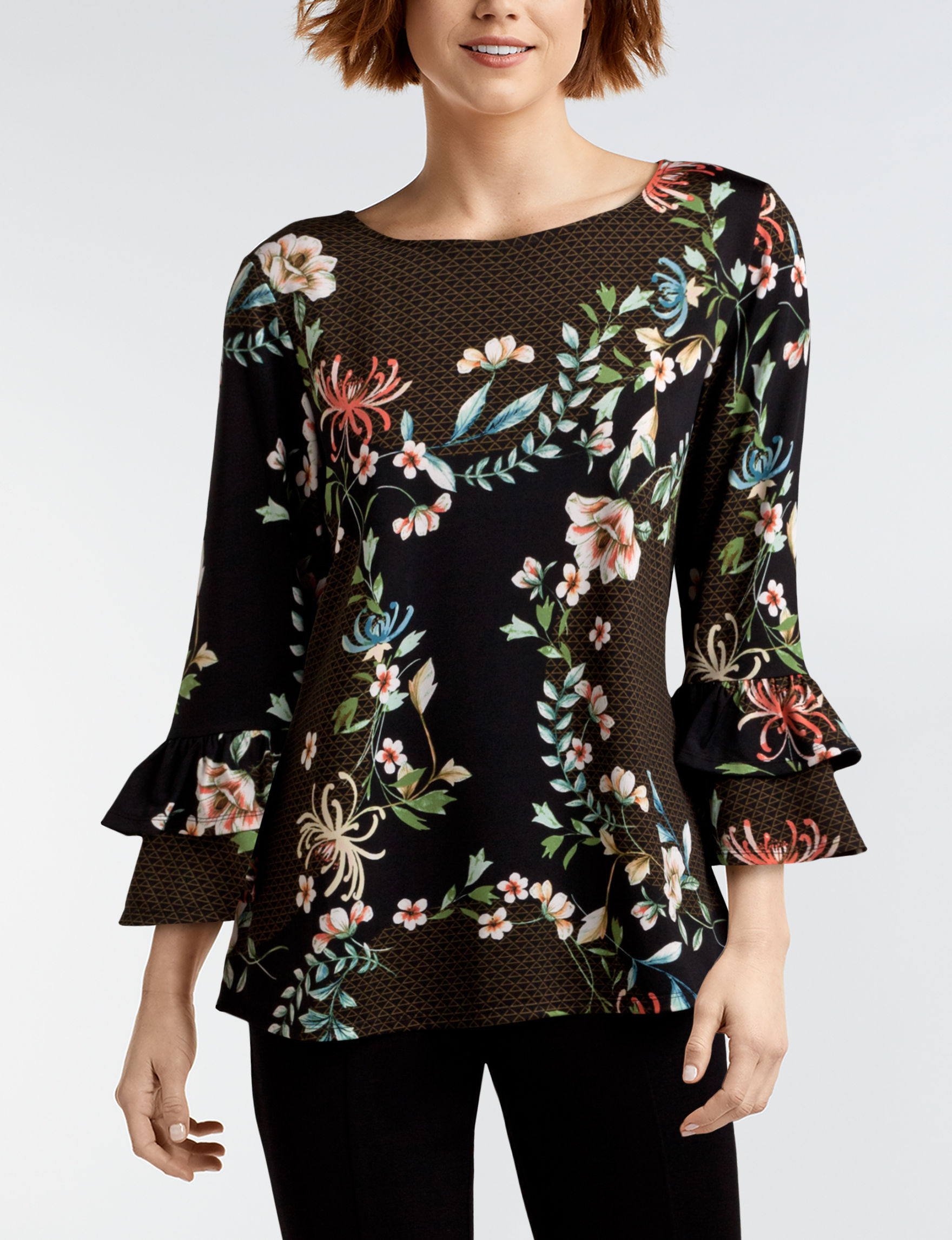 Valerie Stevens Grey Shirts & Blouses
