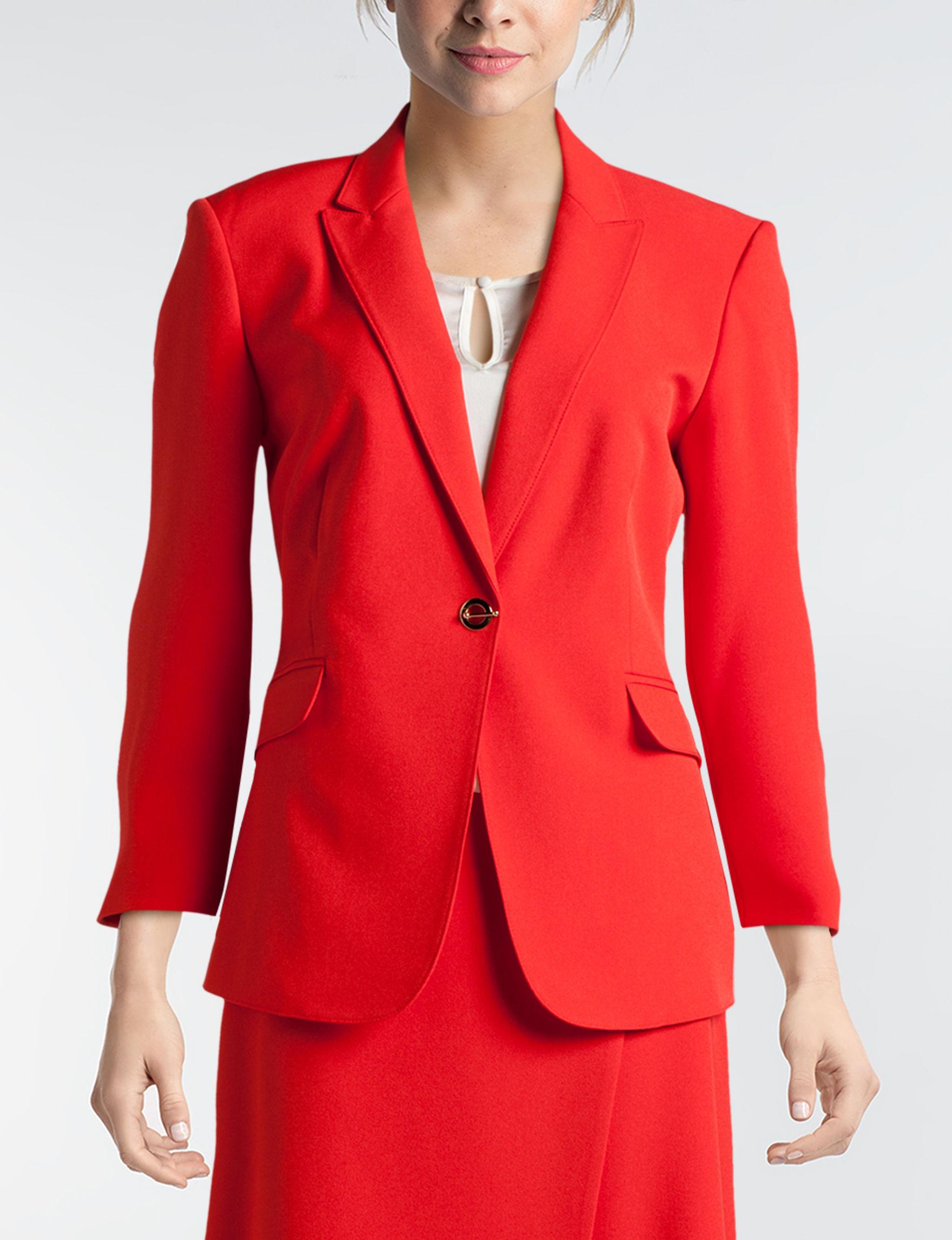 JM Studio Red Lightweight Jackets & Blazers