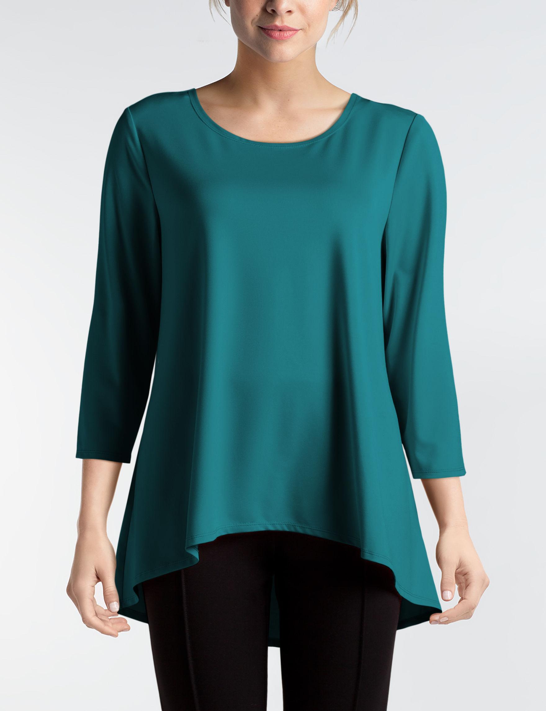 Valerie Stevens Teal Shirts & Blouses