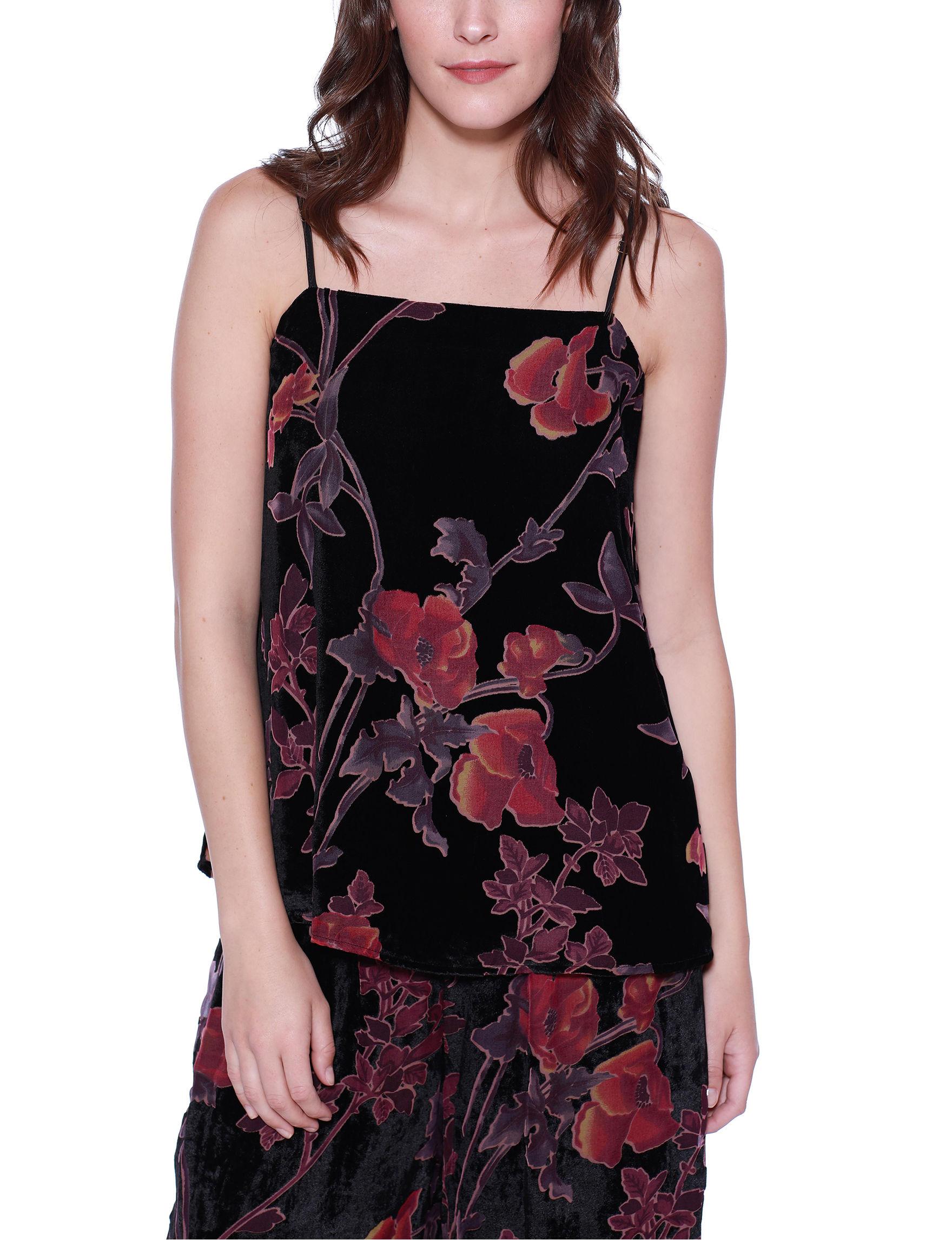 Crimson in Grace Black Floral Tees & Tanks