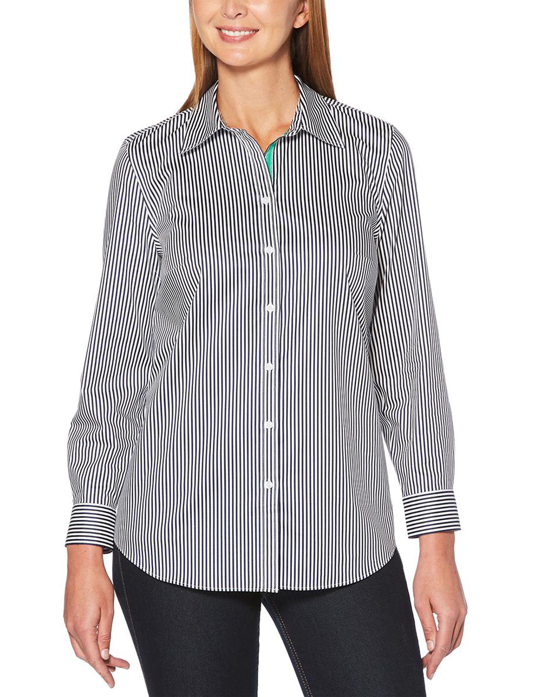 Rafaella Navy / White Shirts & Blouses