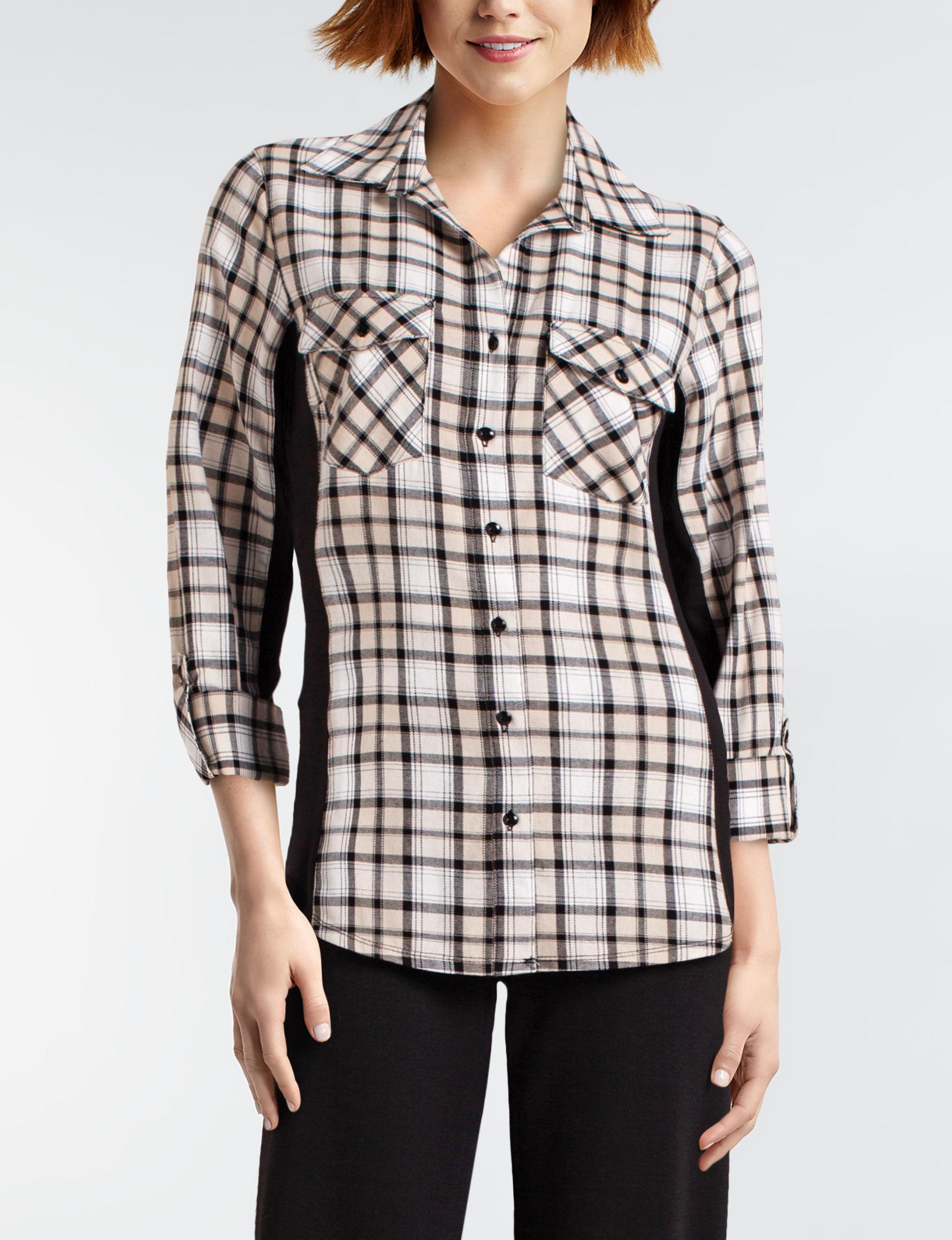 Zac & Rachel Beige / Multi Shirts & Blouses