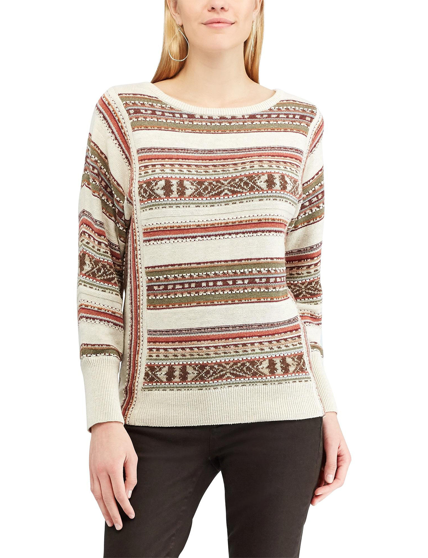 Chaps Beige / Multi Pull-overs