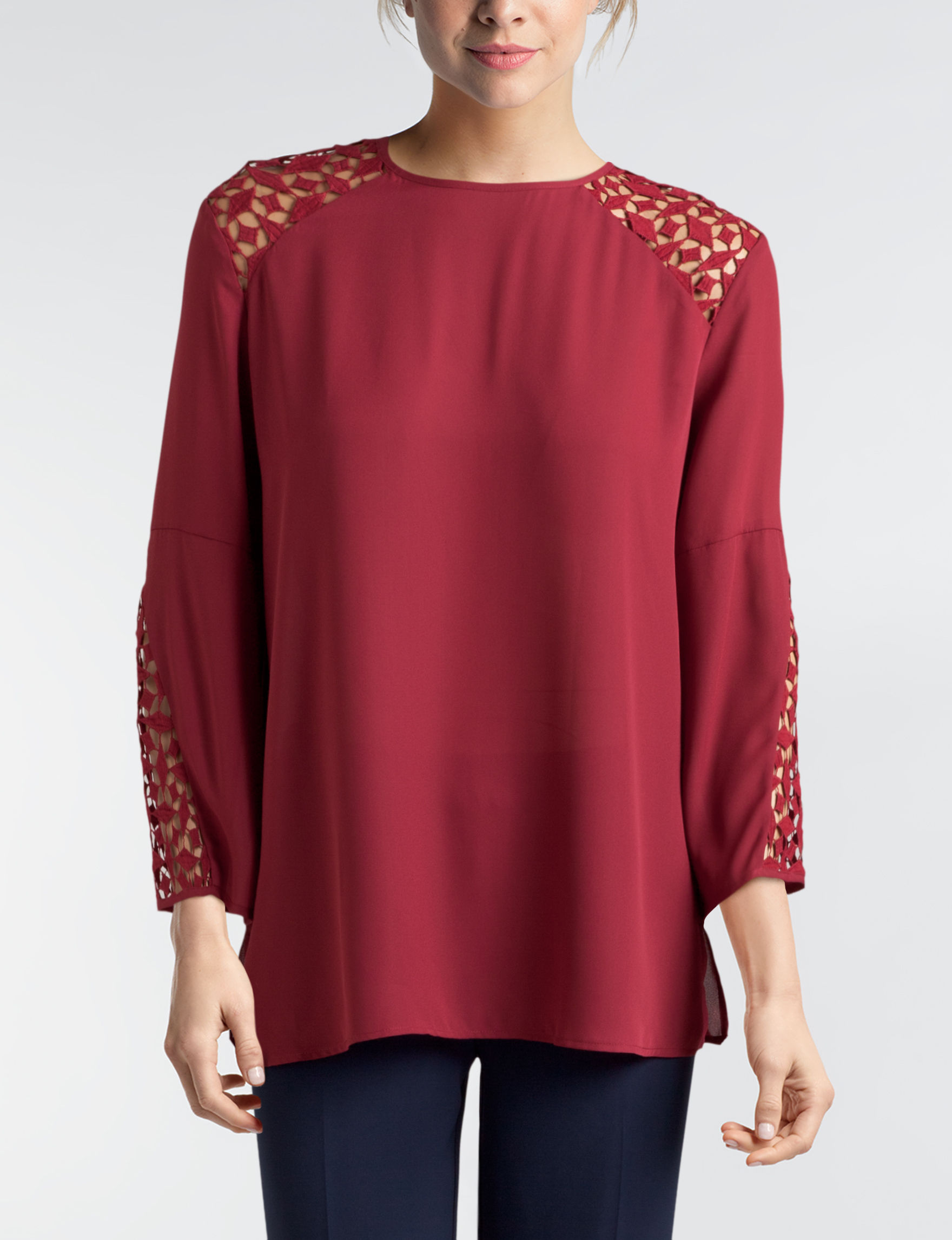 Zac & Rachel Red Shirts & Blouses