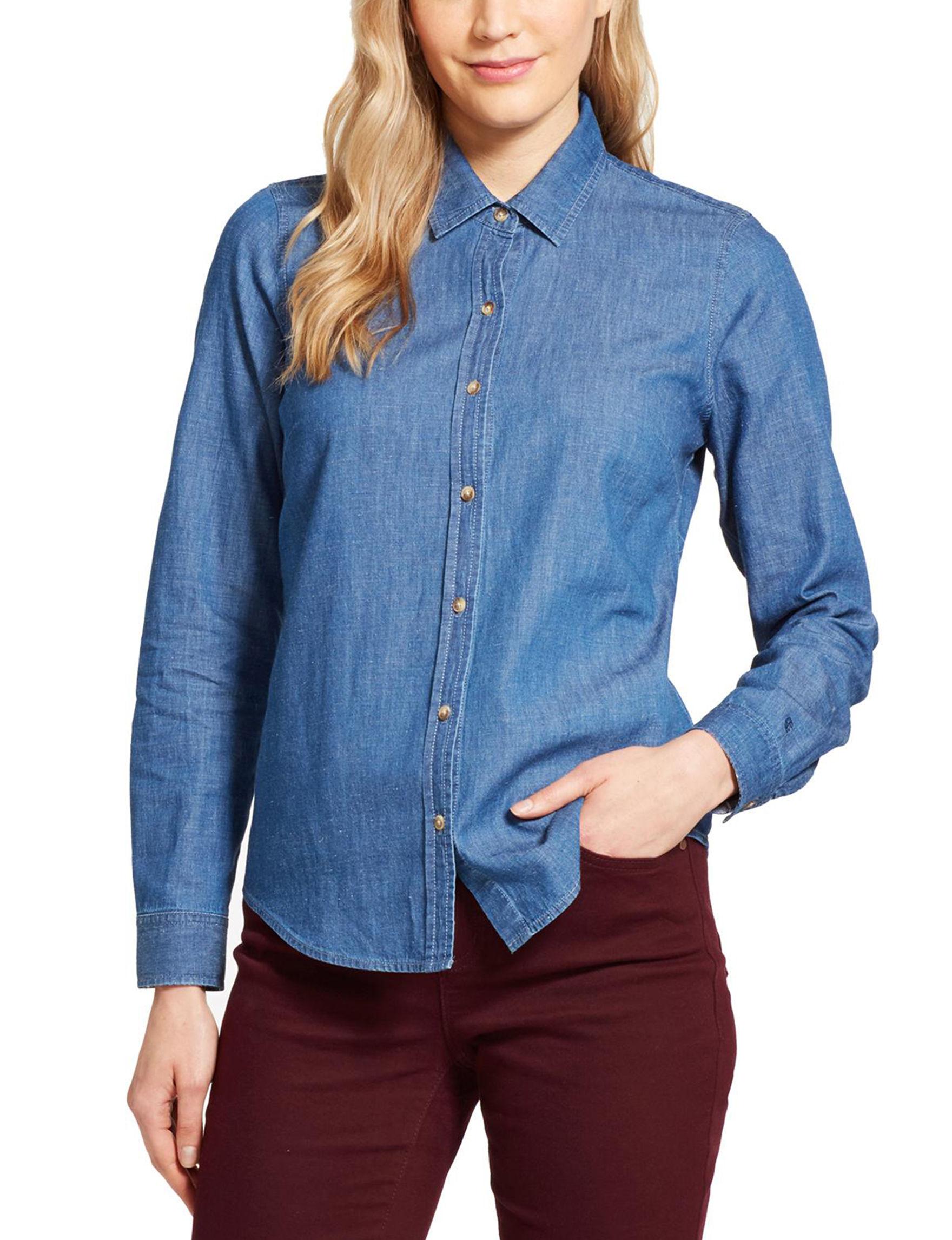 Izod Blue Shirts & Blouses