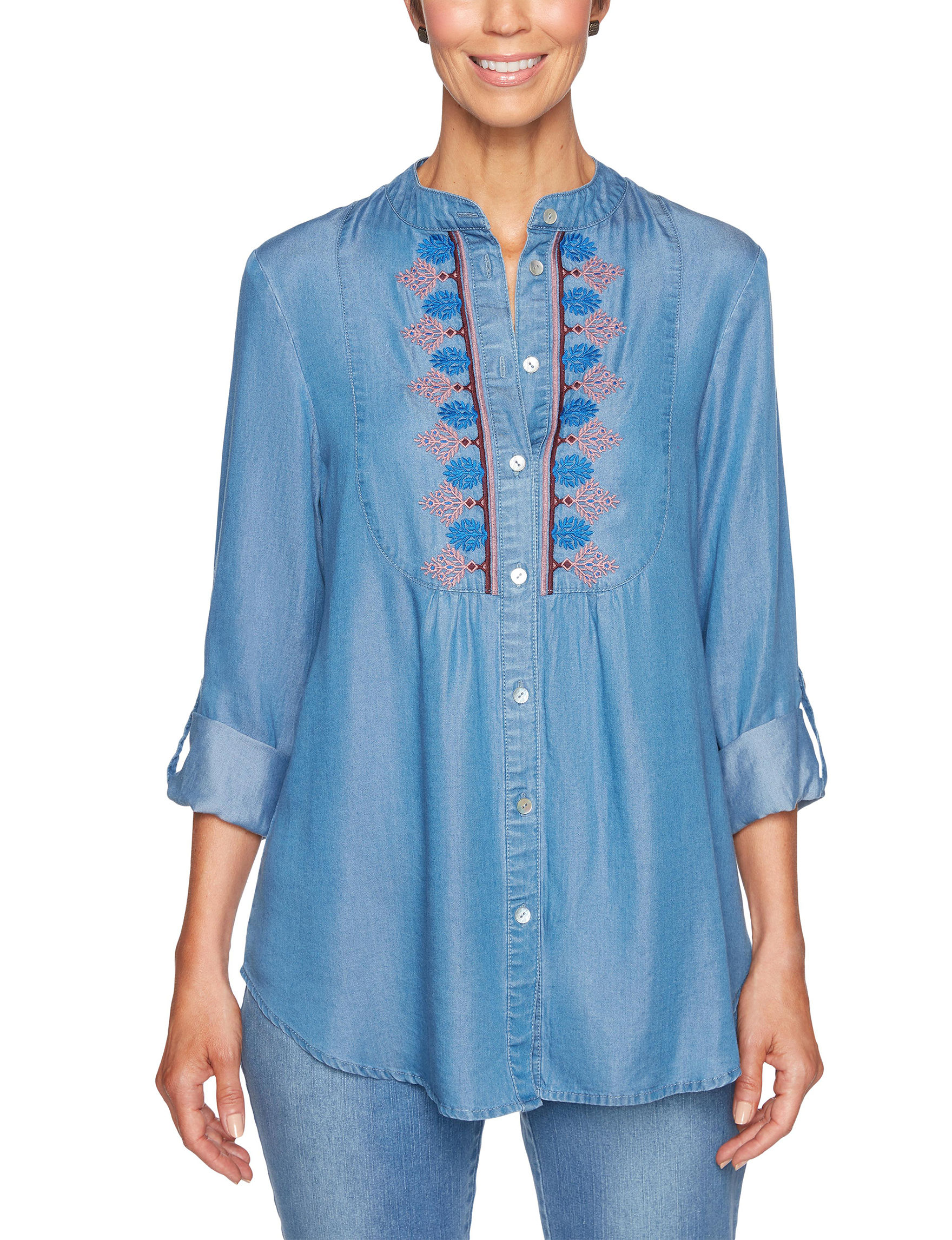 Ruby Road Chambray Shirts & Blouses