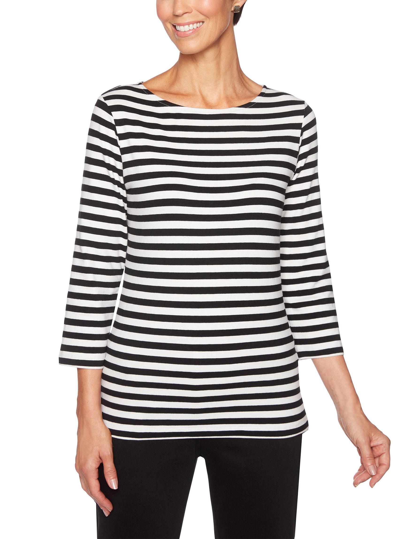 Ruby Road White / Black Shirts & Blouses
