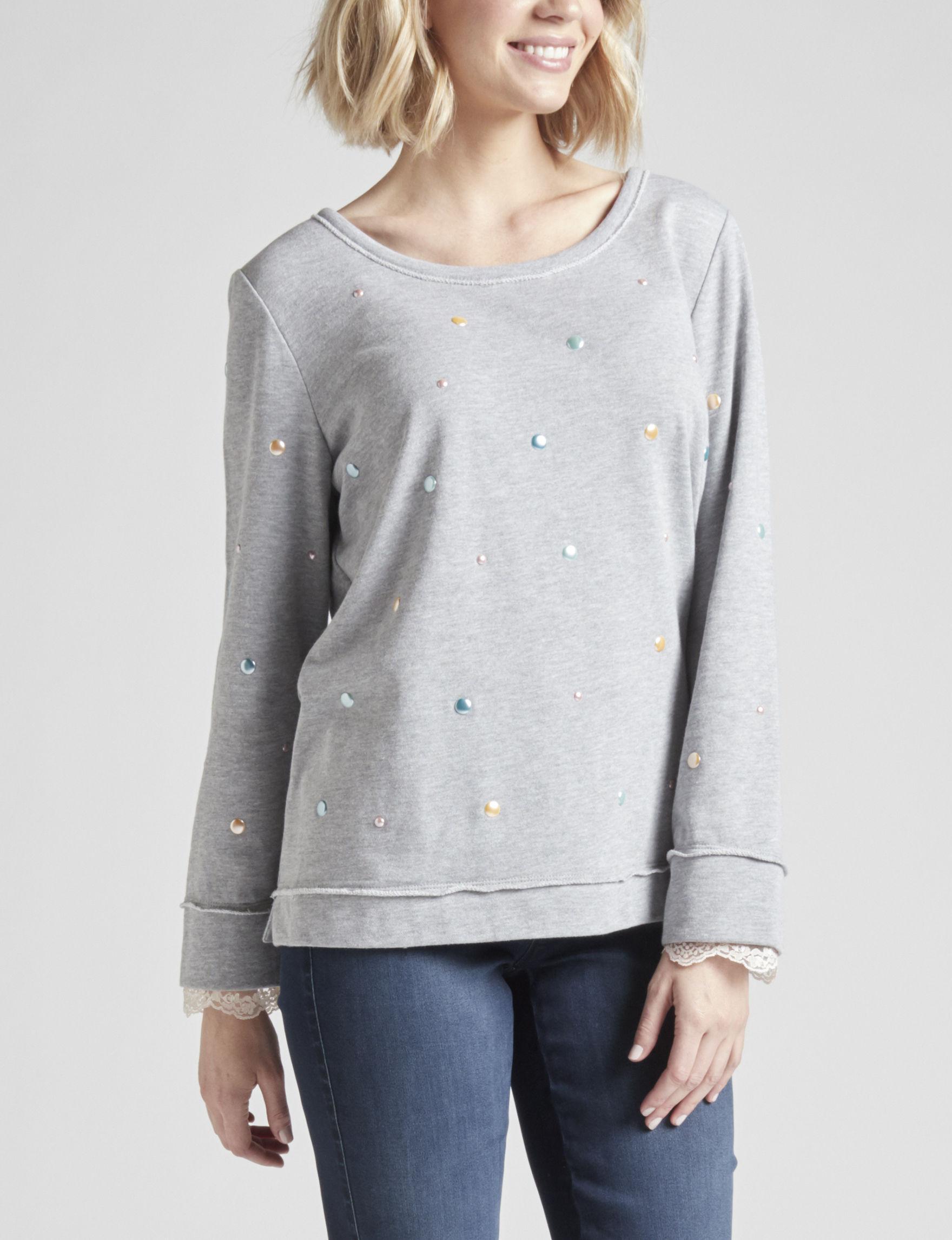 Hannah Heather Grey Shirts & Blouses