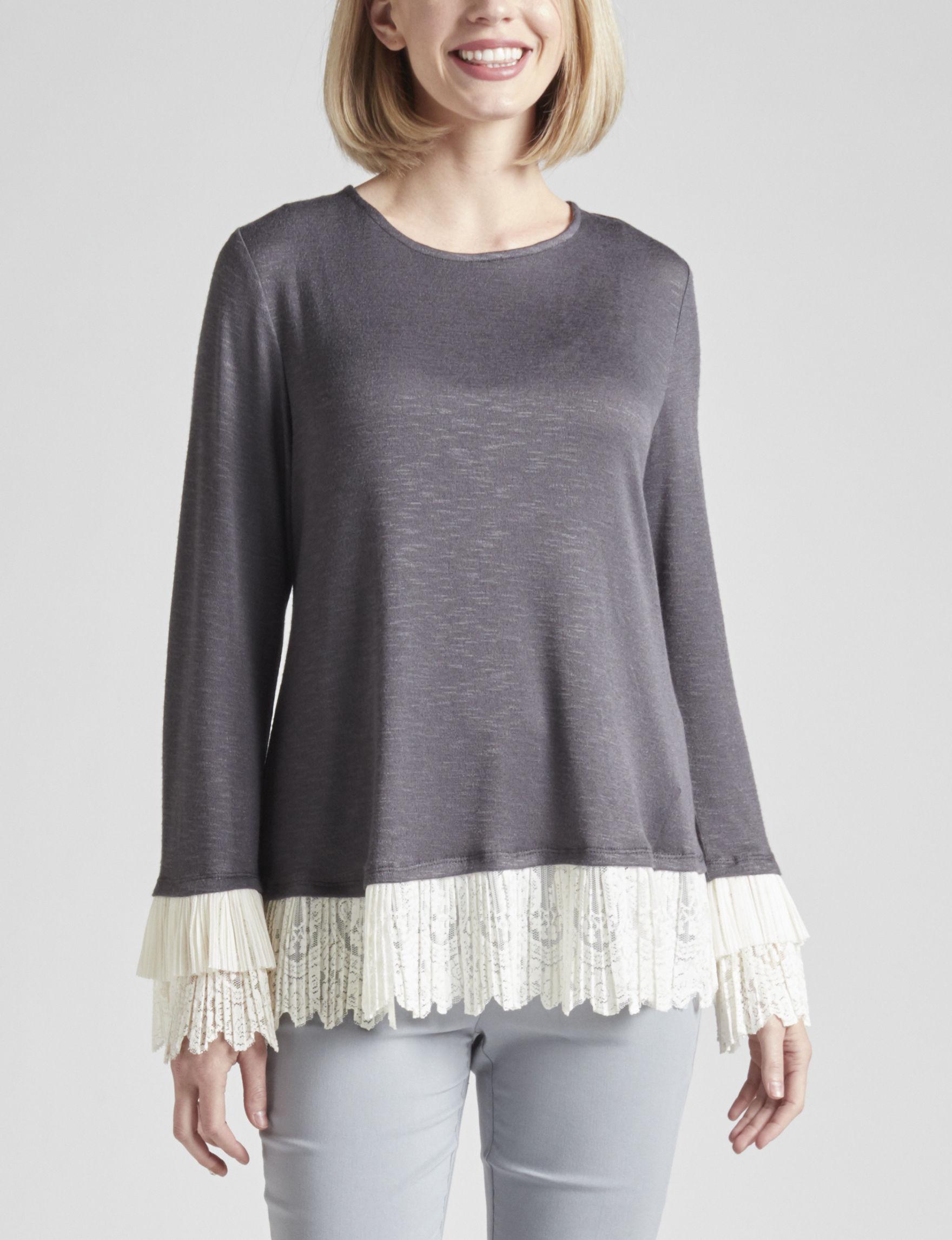 Zac & Rachel Charcoal Shirts & Blouses
