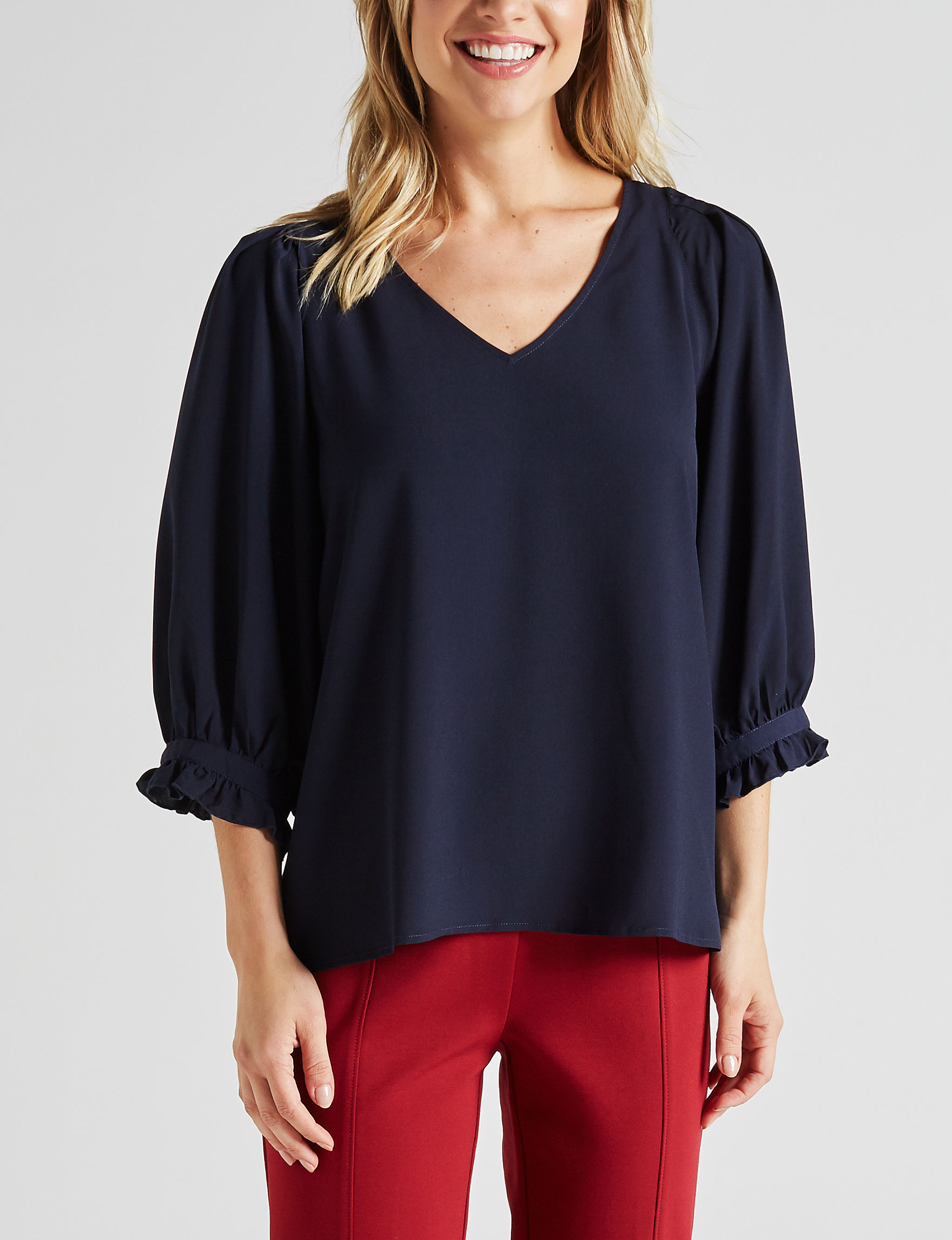 Zac & Rachel Navy Shirts & Blouses