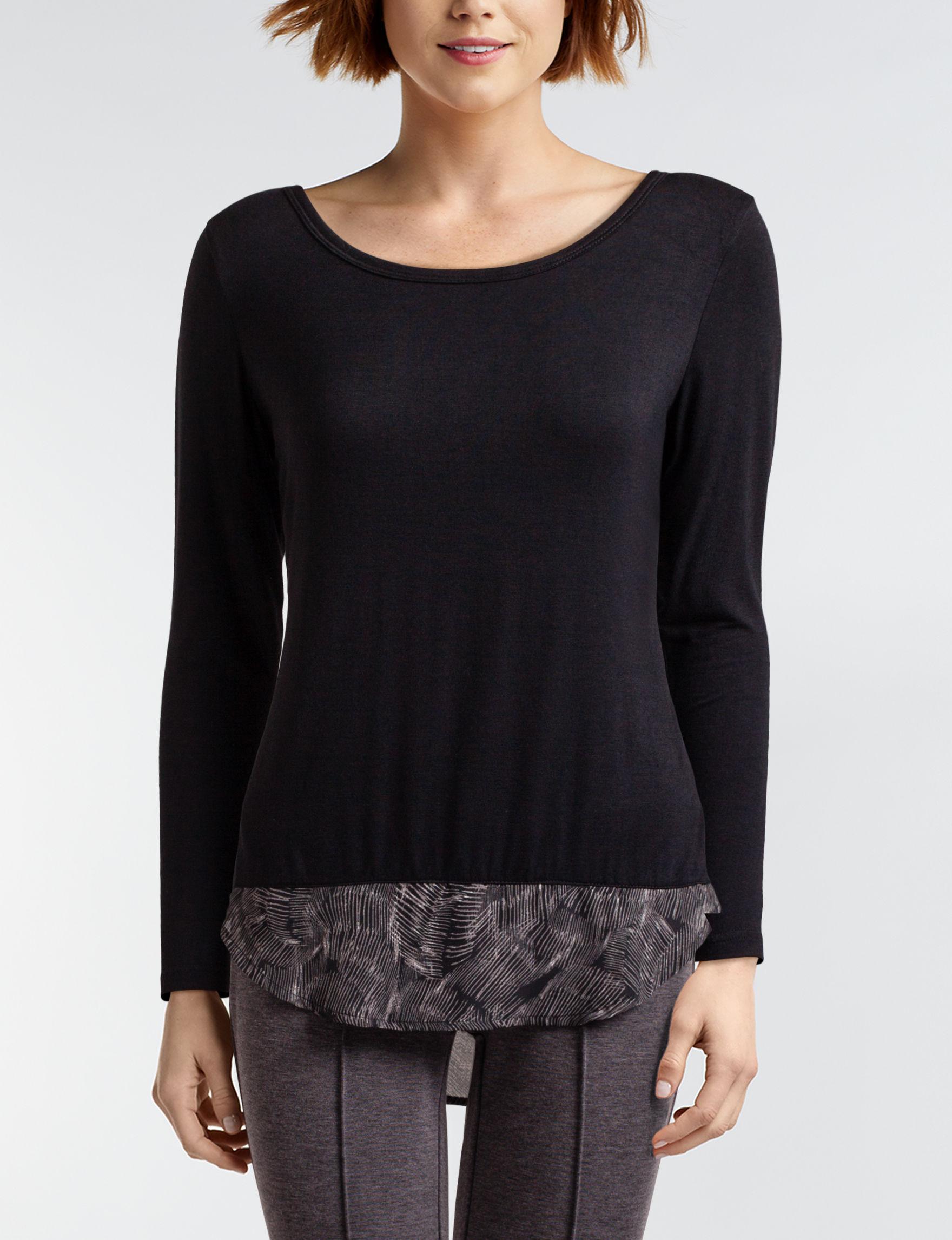 Daisy Fuentes Black Shirts & Blouses